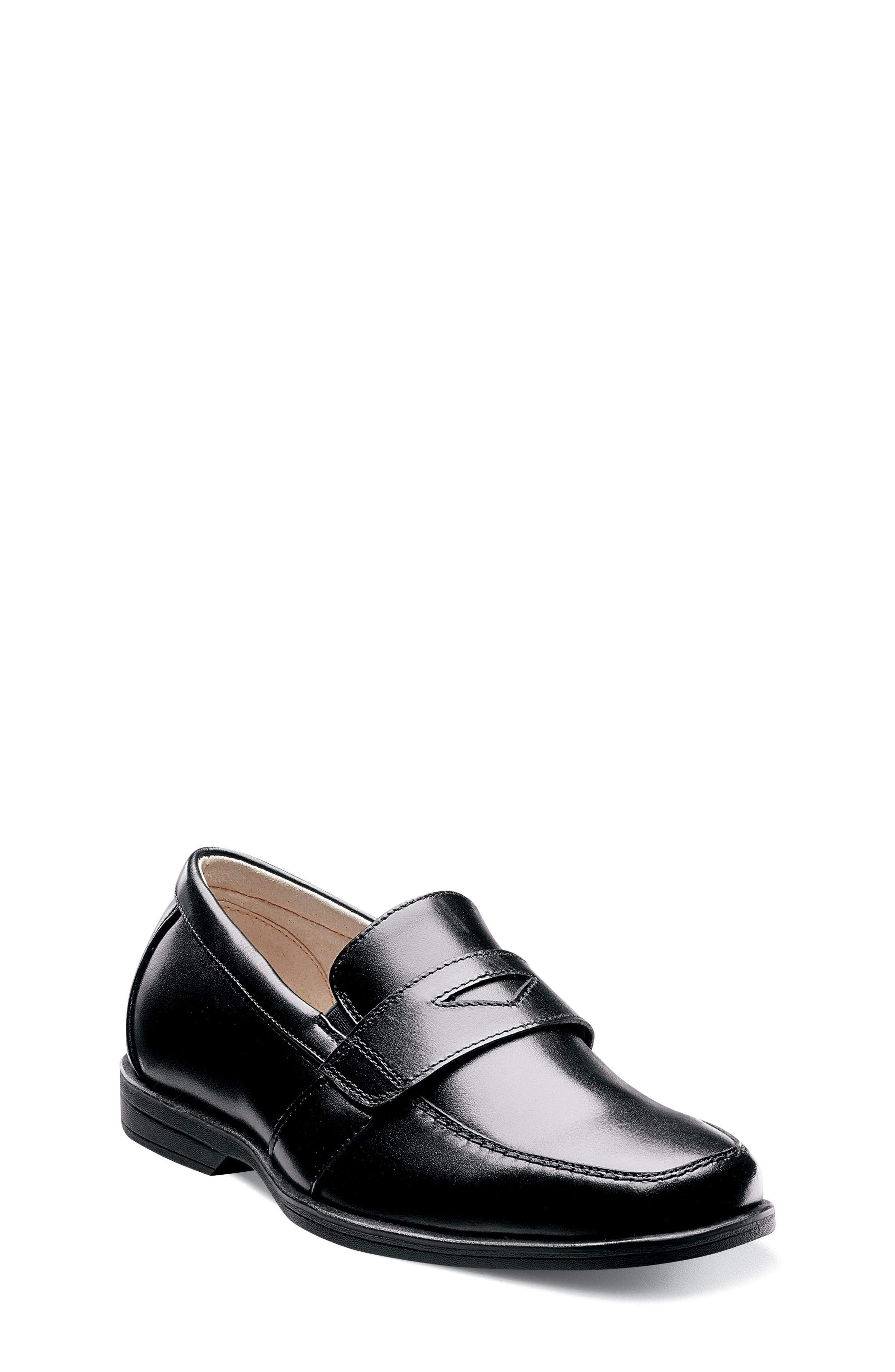 'Reveal' Penny Loafer,                             Main thumbnail 1, color,                             BLACK