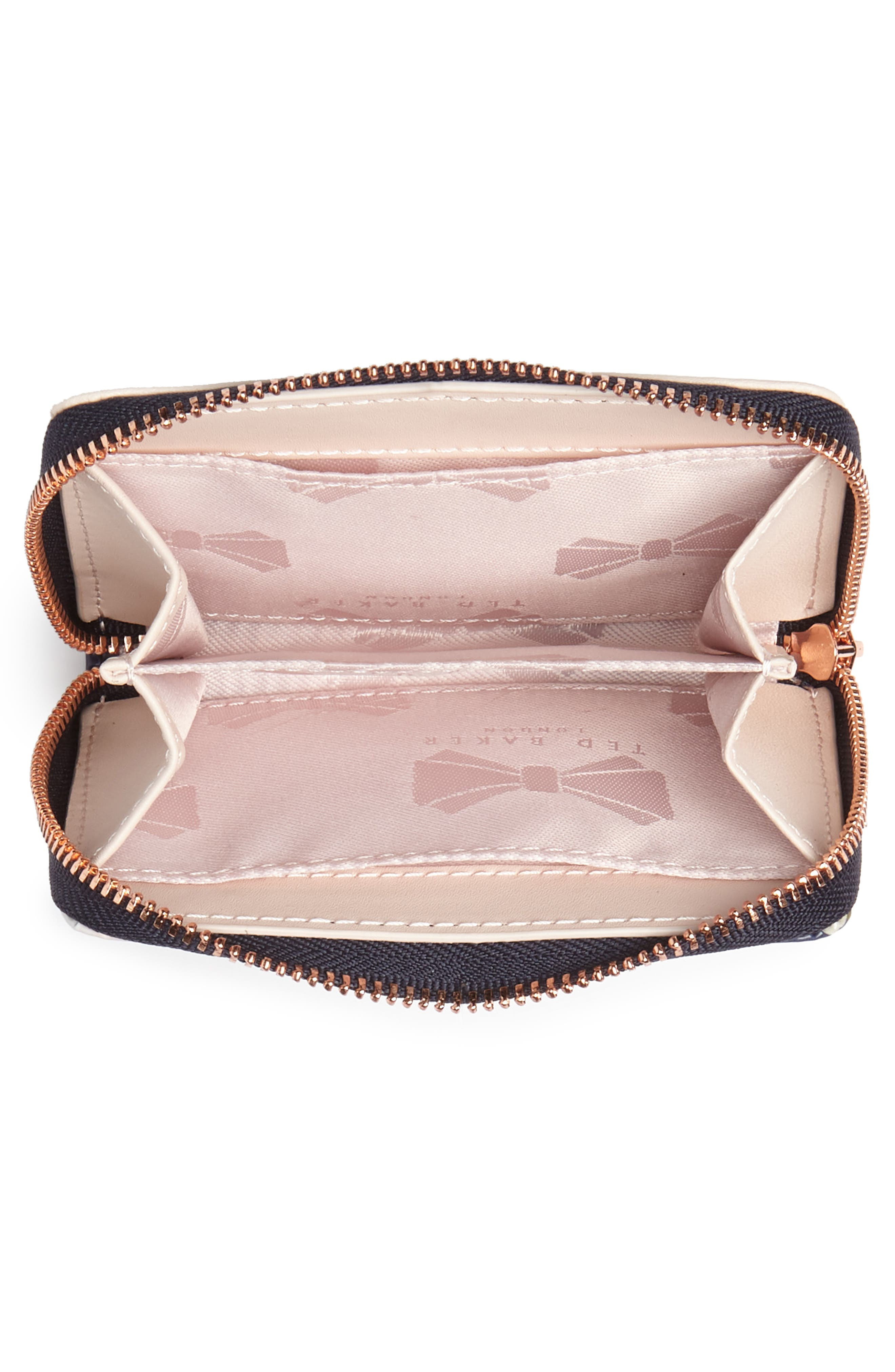 Vallie Chatsworth Bloom Leather Zip Coin Purse,                             Alternate thumbnail 4, color,