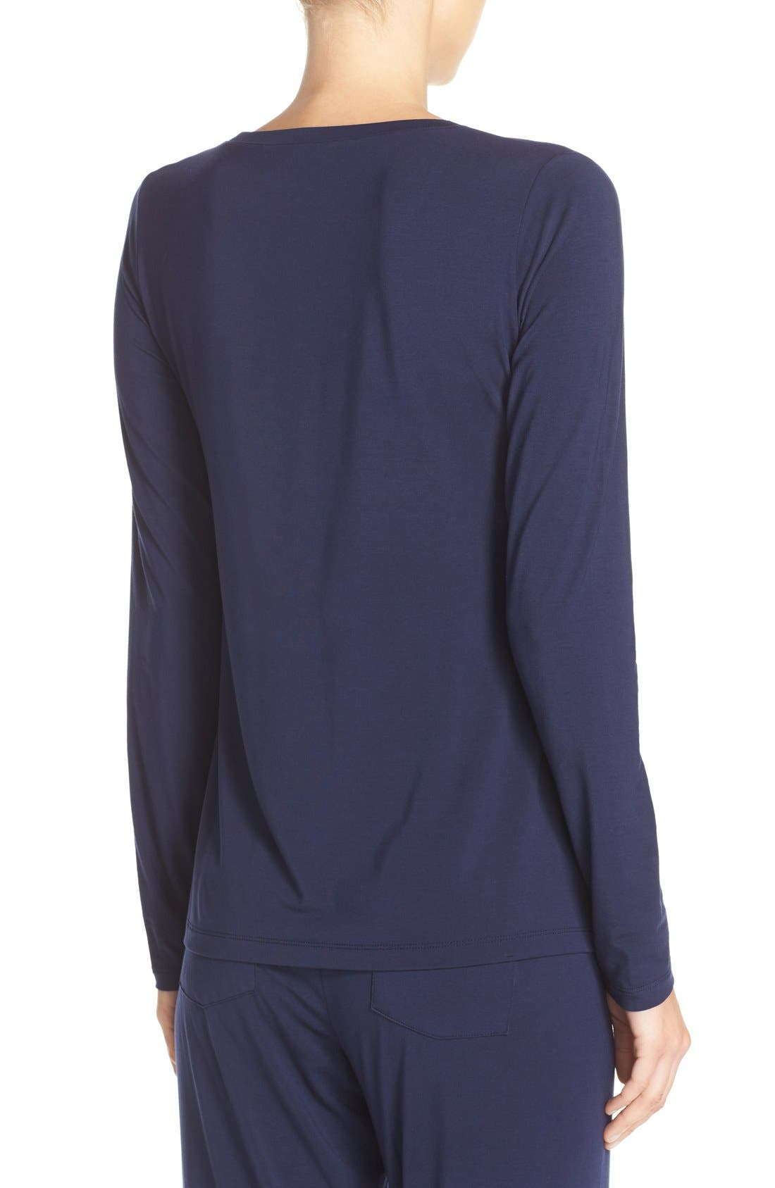 Long Sleeve Stretch Modal Top,                             Alternate thumbnail 3, color,                             411