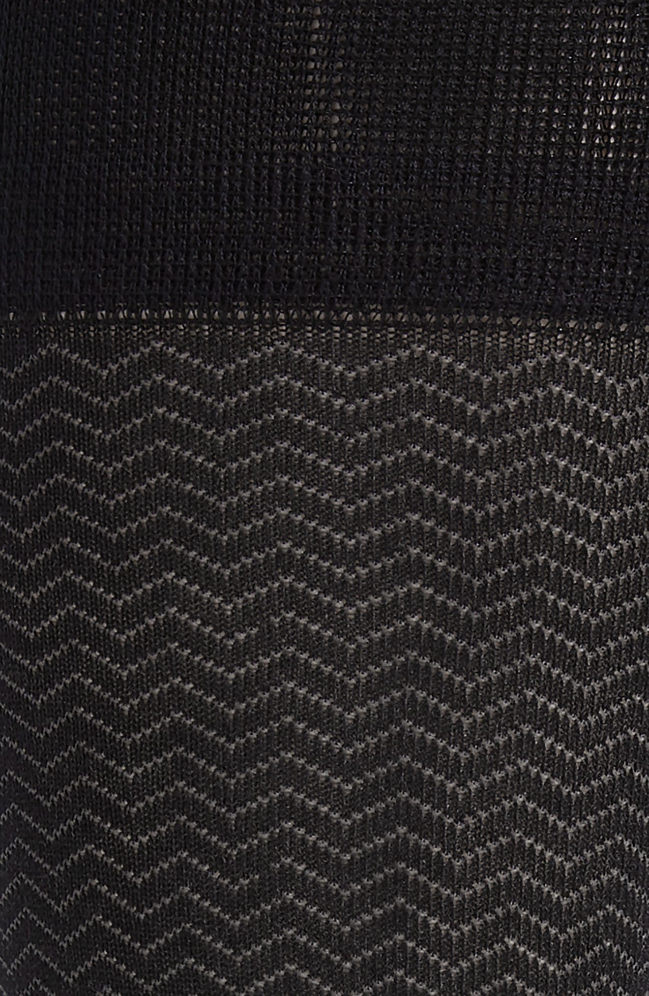 Gradient Herringbone Socks,                             Alternate thumbnail 2, color,                             BLACK/ GREY