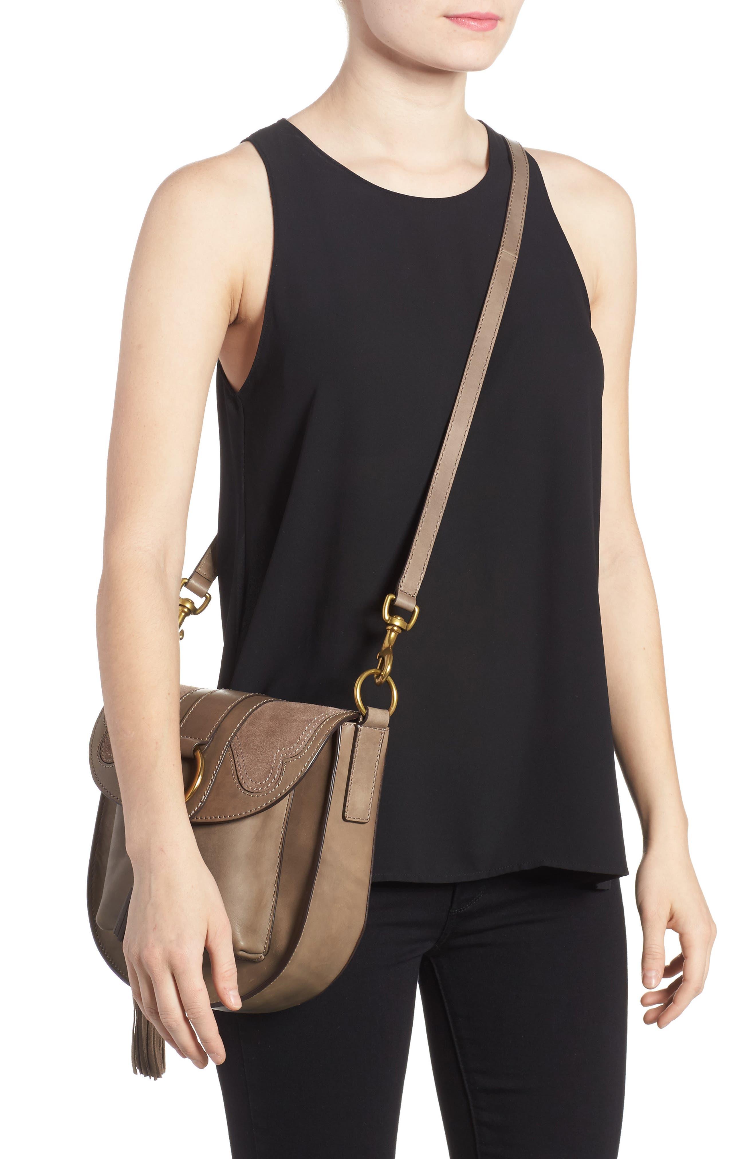 Small Ilana Harness Leather Saddle Bag,                             Alternate thumbnail 2, color,                             040