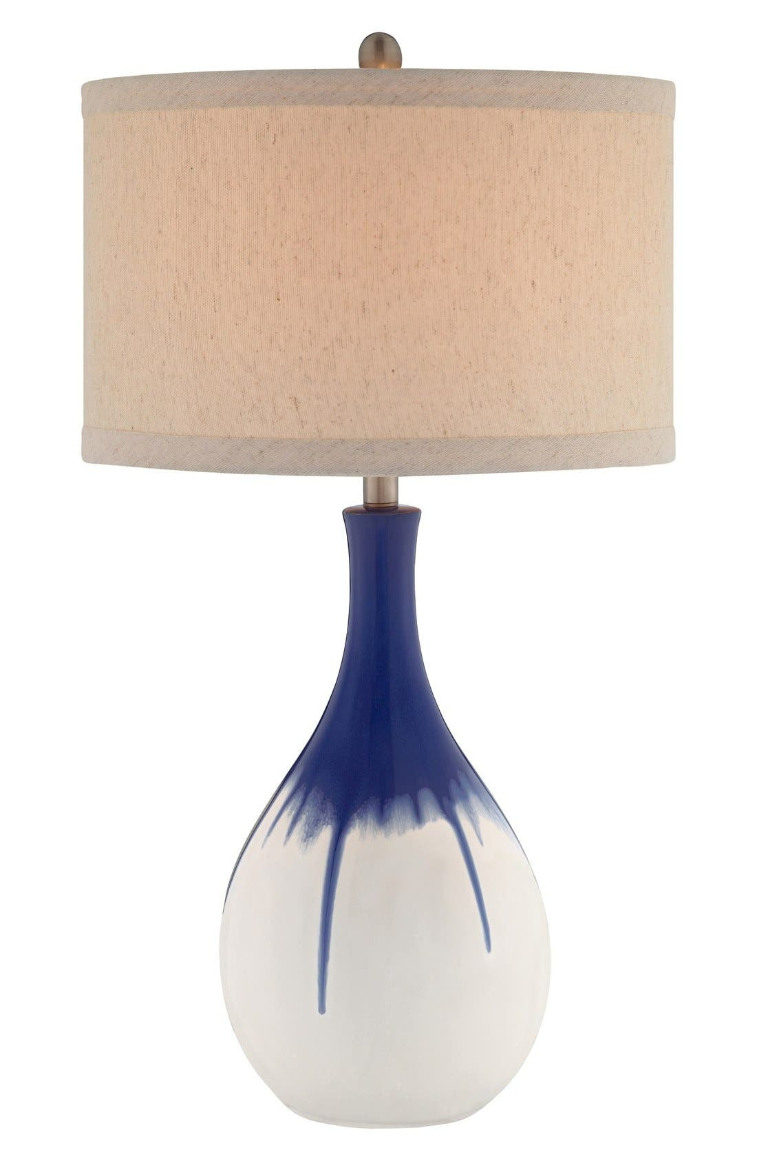 Cobalt Ceramic Table Lamp,                             Main thumbnail 1, color,                             400