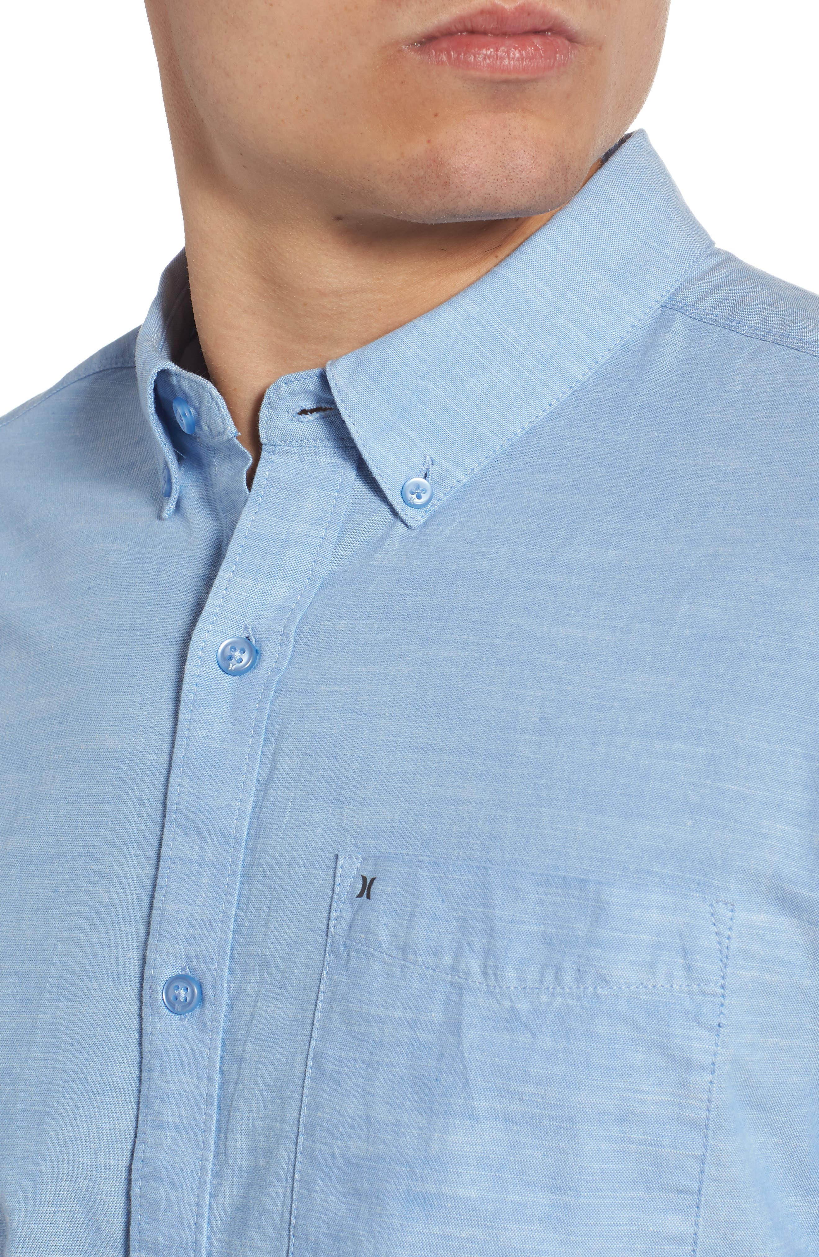 One & Only 2.0 Woven Shirt,                             Alternate thumbnail 4, color,                             BLUE OX