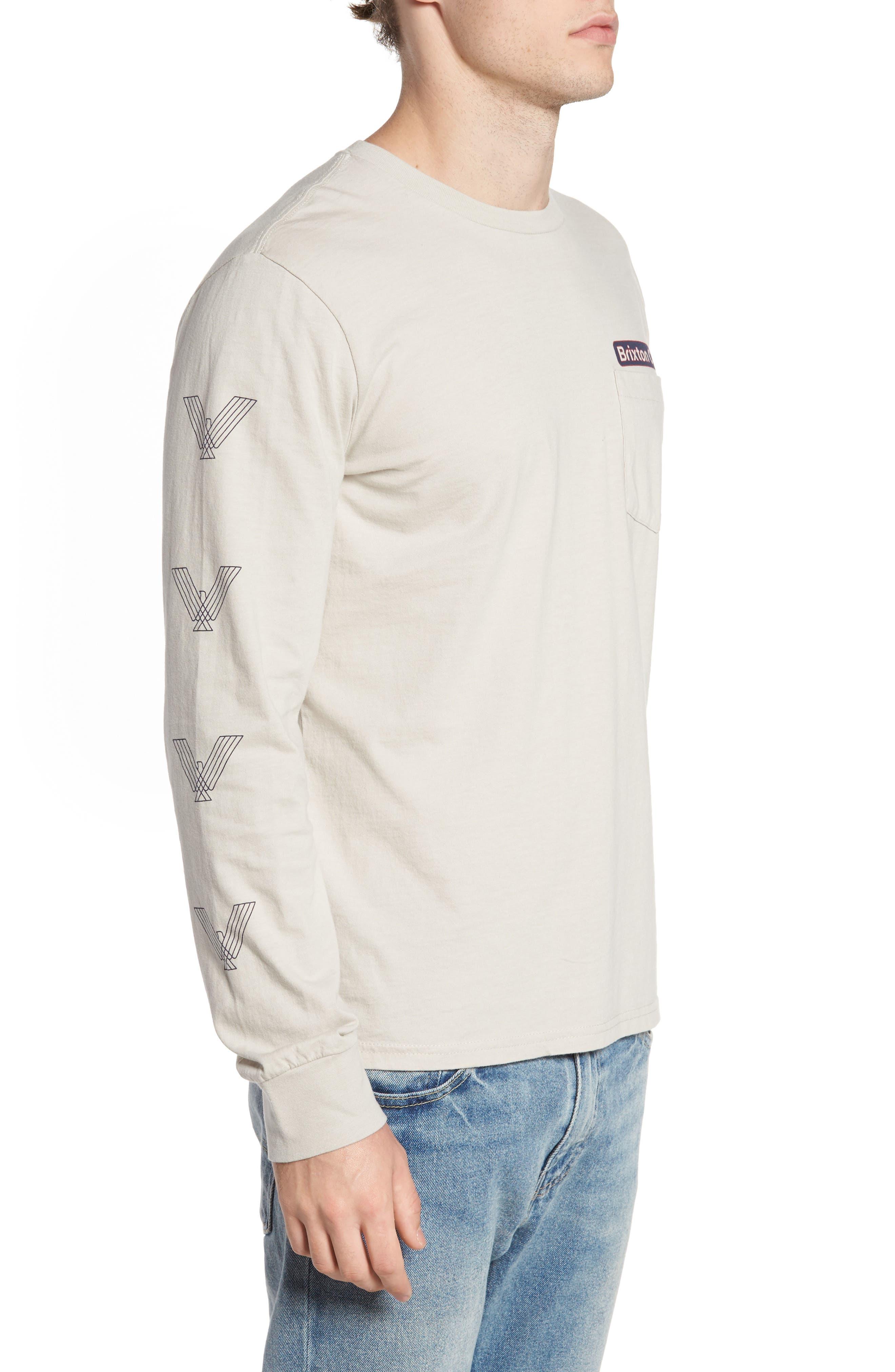 Maron Long Sleeve T-Shirt,                             Alternate thumbnail 3, color,                             020