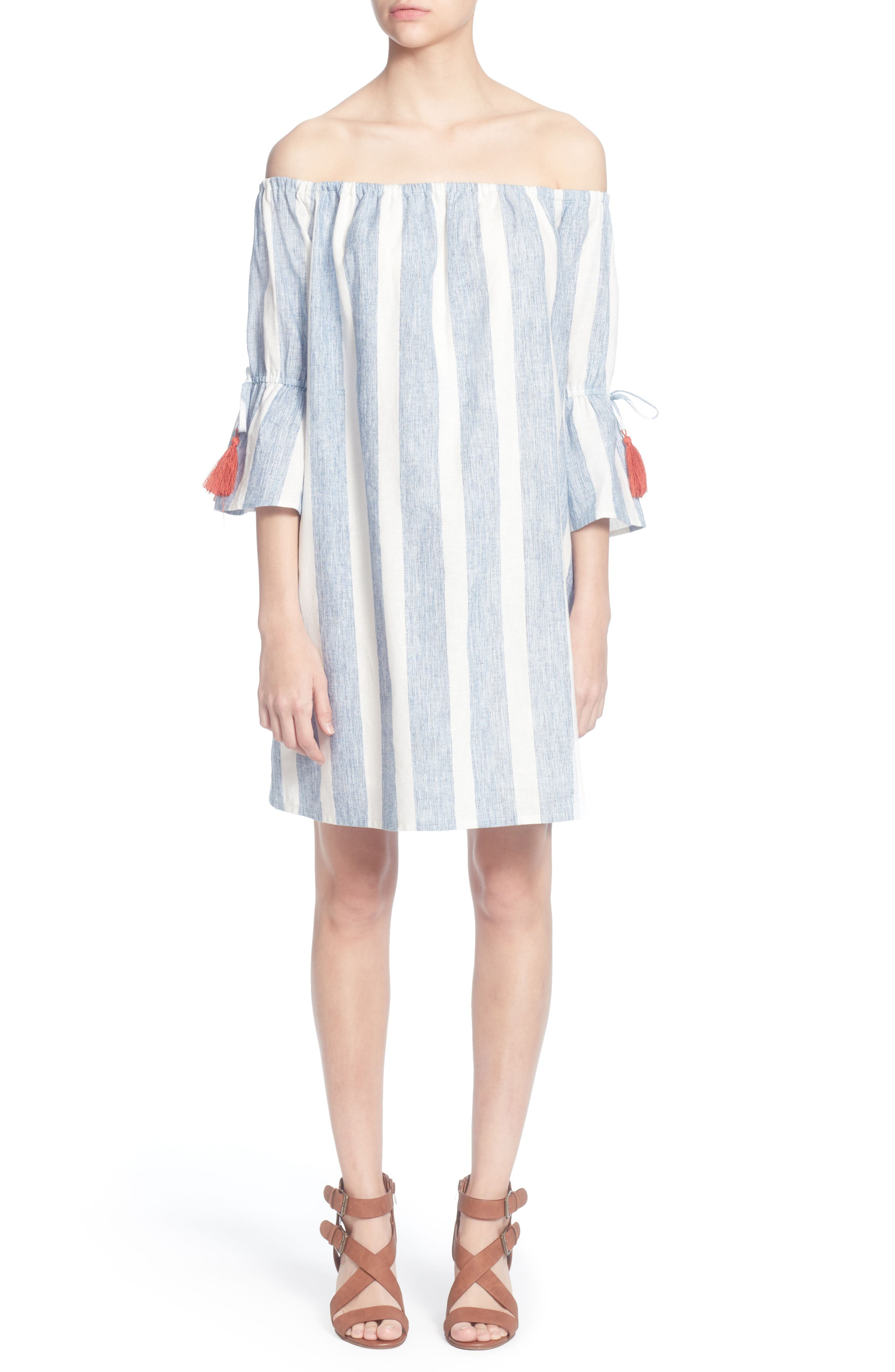 Randee Dress, Main, color, BLUE/WHITE
