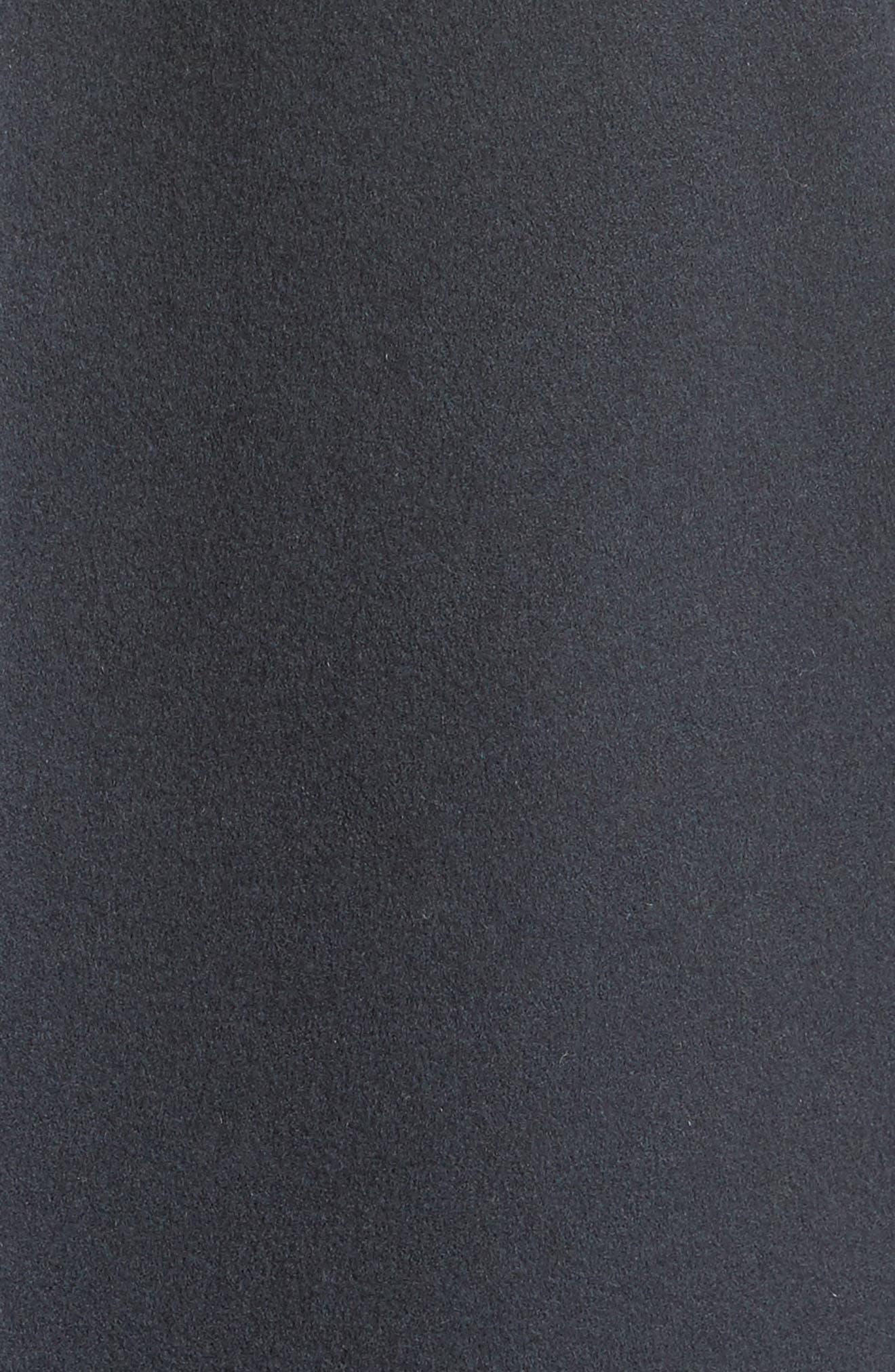 Genuine Shearling Zip Long Hoodie,                             Alternate thumbnail 5, color,                             400