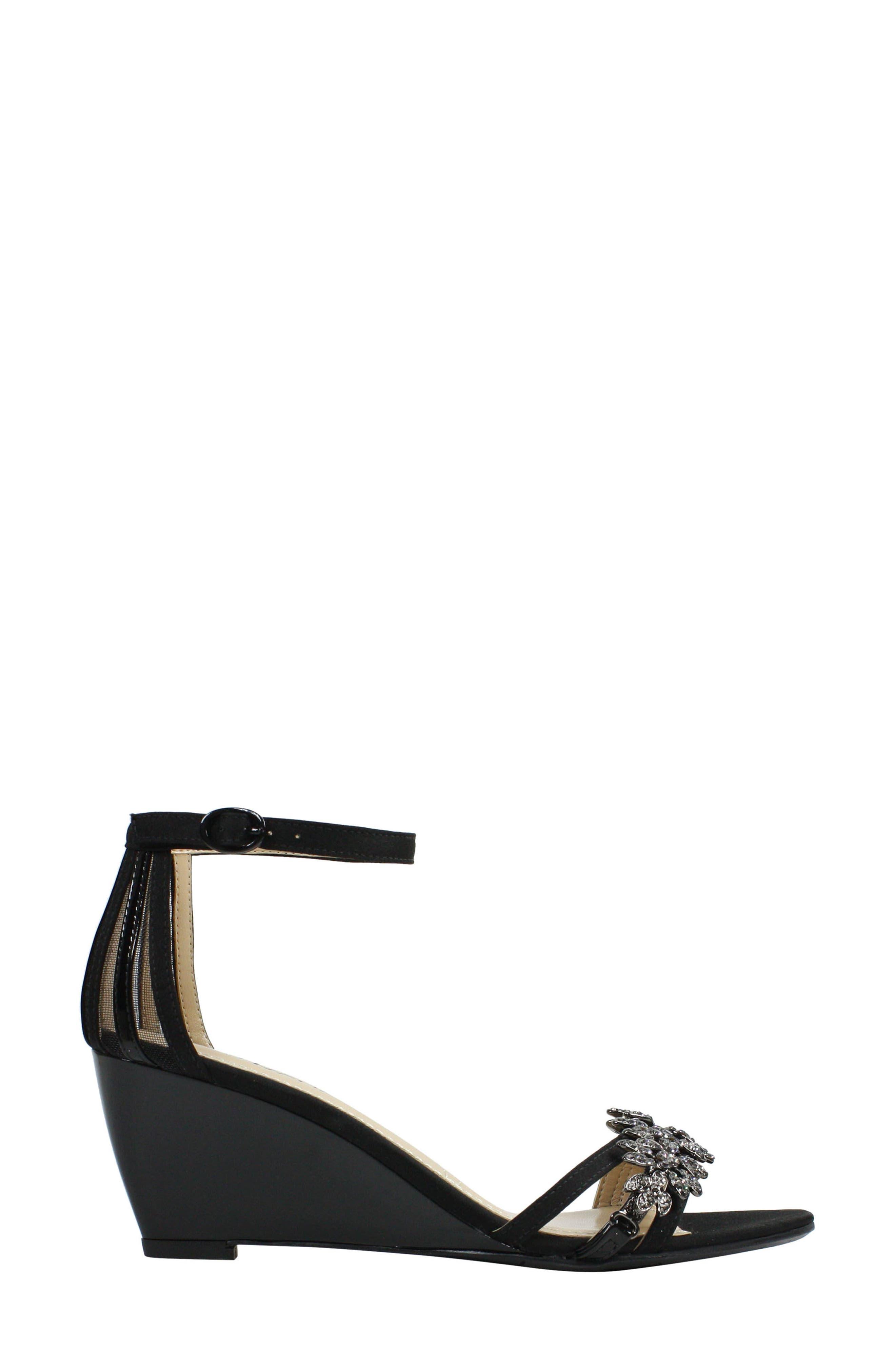 Mariabelle Ankle Strap Sandal,                             Alternate thumbnail 2, color,                             BLACK