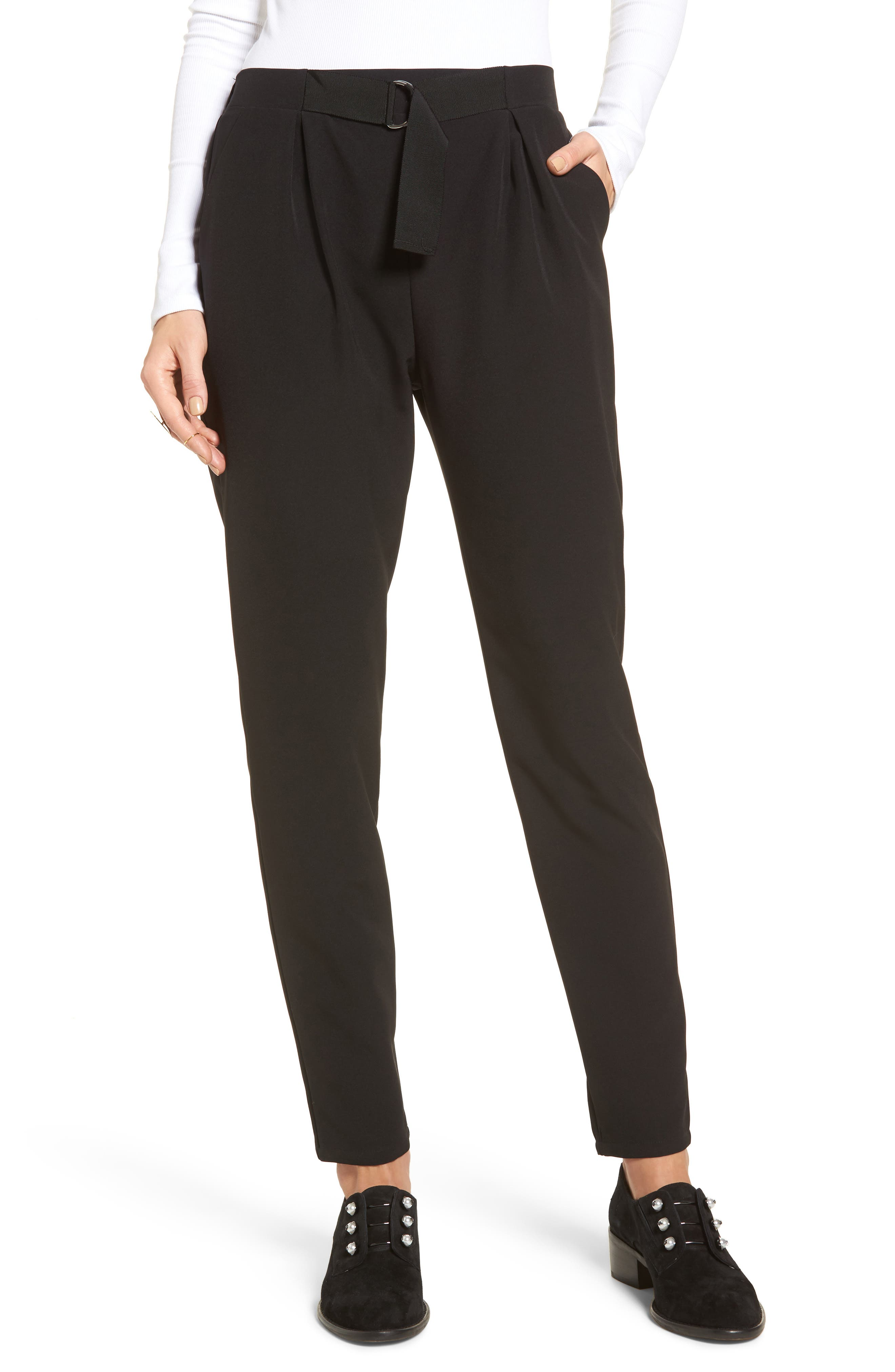 Tapered Trousers,                         Main,                         color, 001