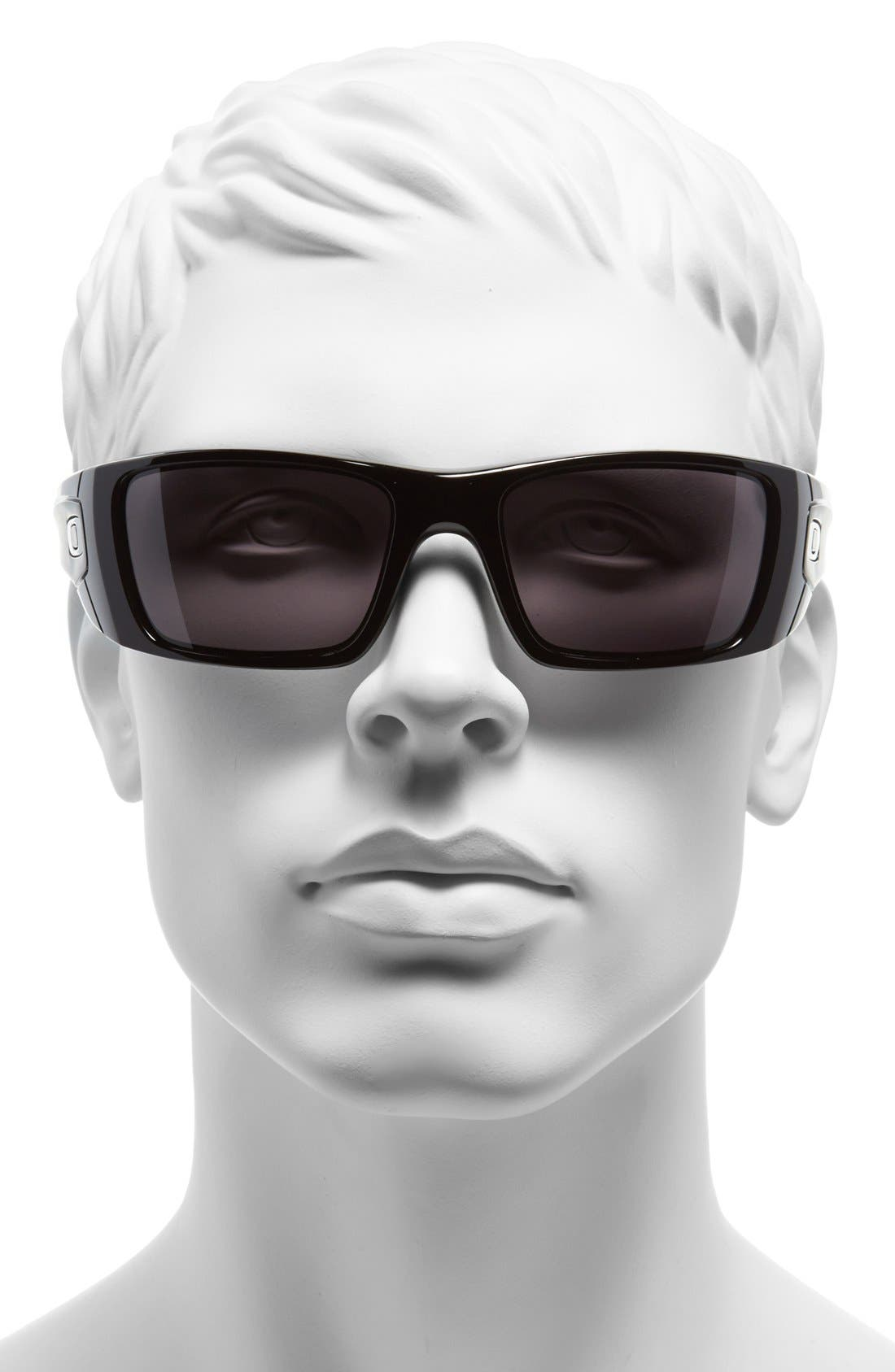 'Fuel Cell' 60mm Sunglasses,                             Alternate thumbnail 2, color,                             POLISHED BLACK