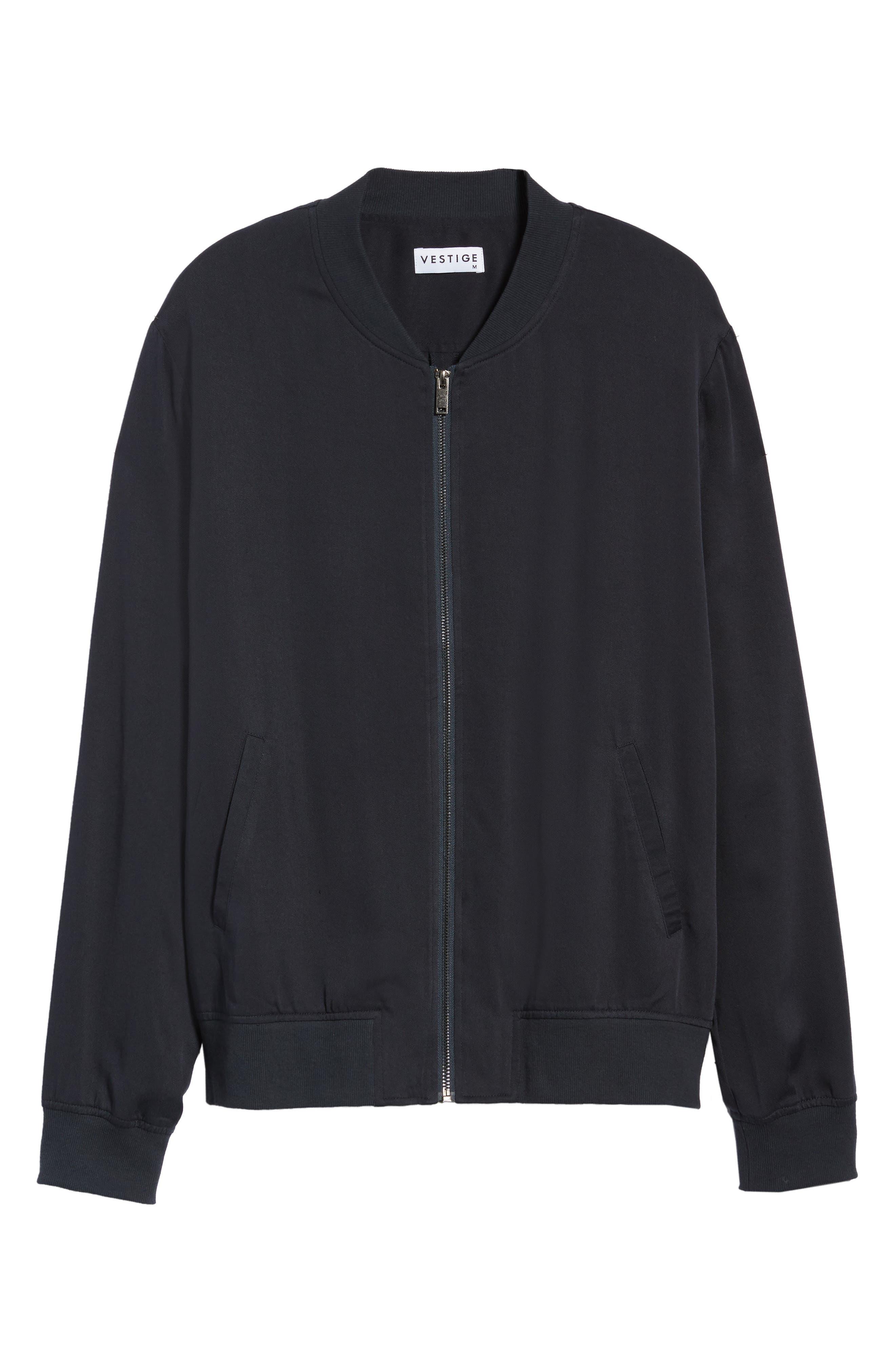 Lightweight Woven Jacket,                             Alternate thumbnail 6, color,                             CARBON