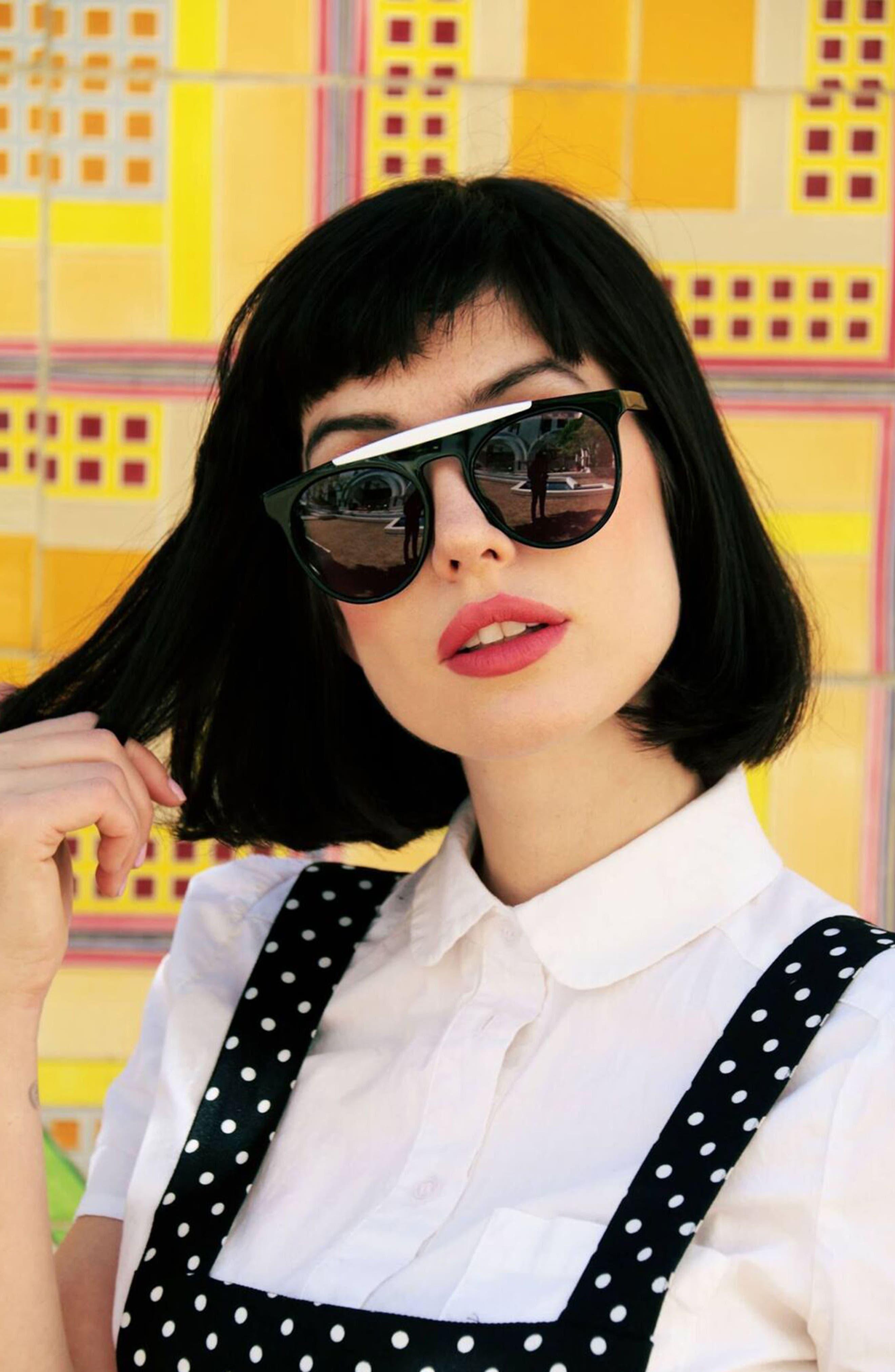 Atomic 52mm Sunglasses,                             Alternate thumbnail 3, color,                             001