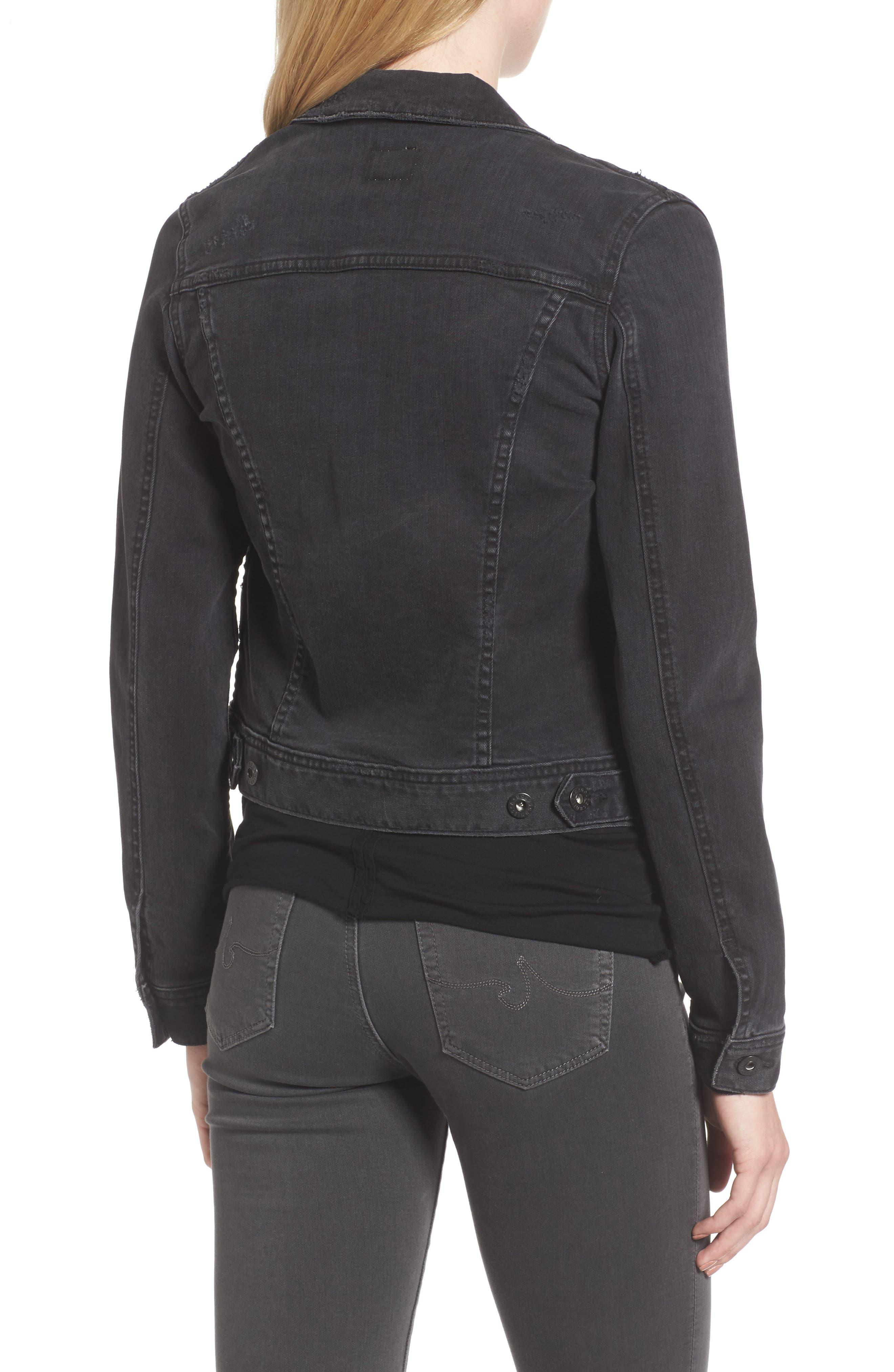 'Robyn' Crop Denim Jacket,                             Alternate thumbnail 2, color,                             014