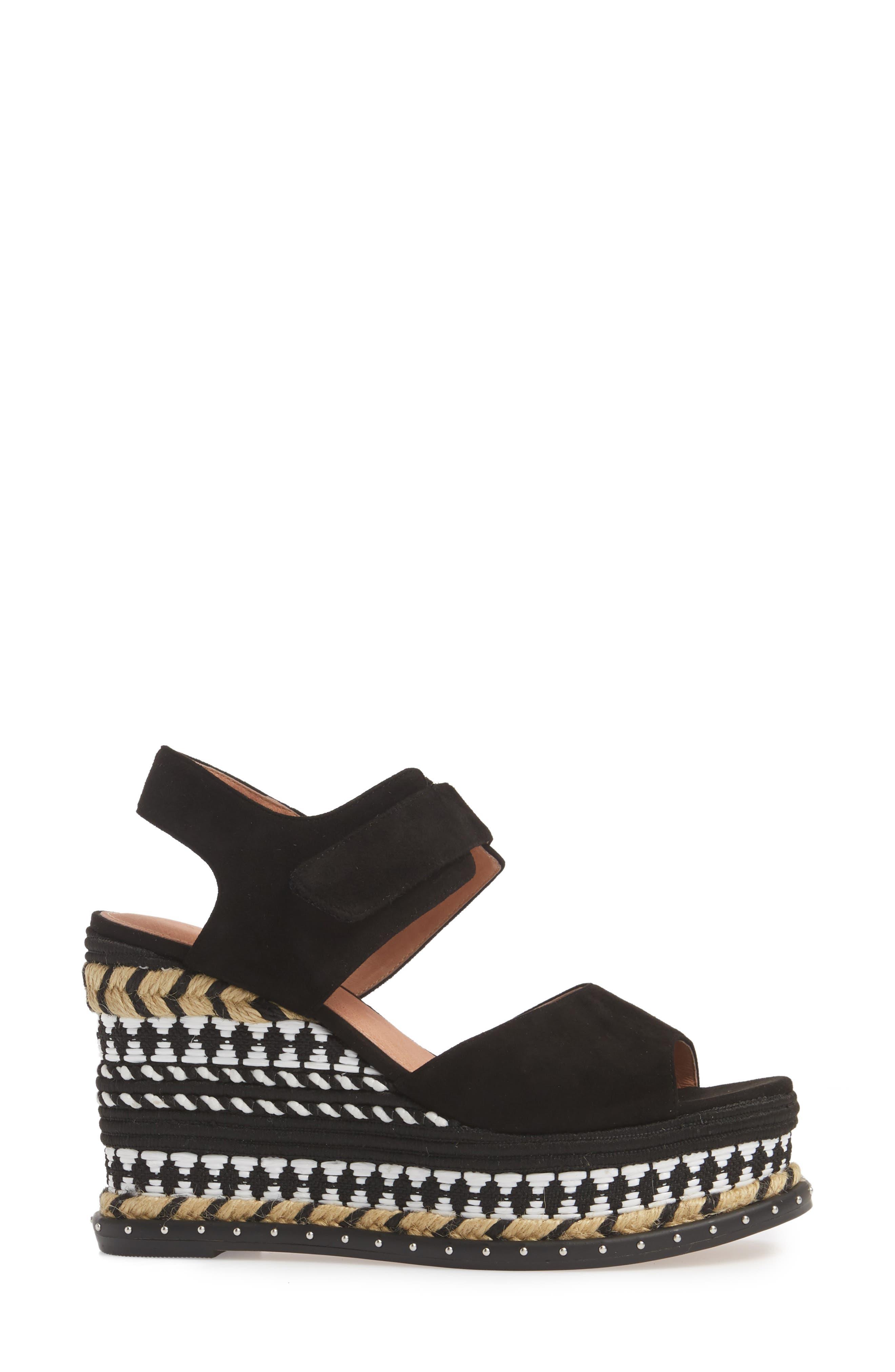 Braxton Platform Wedge Sandal,                             Alternate thumbnail 3, color,                             001