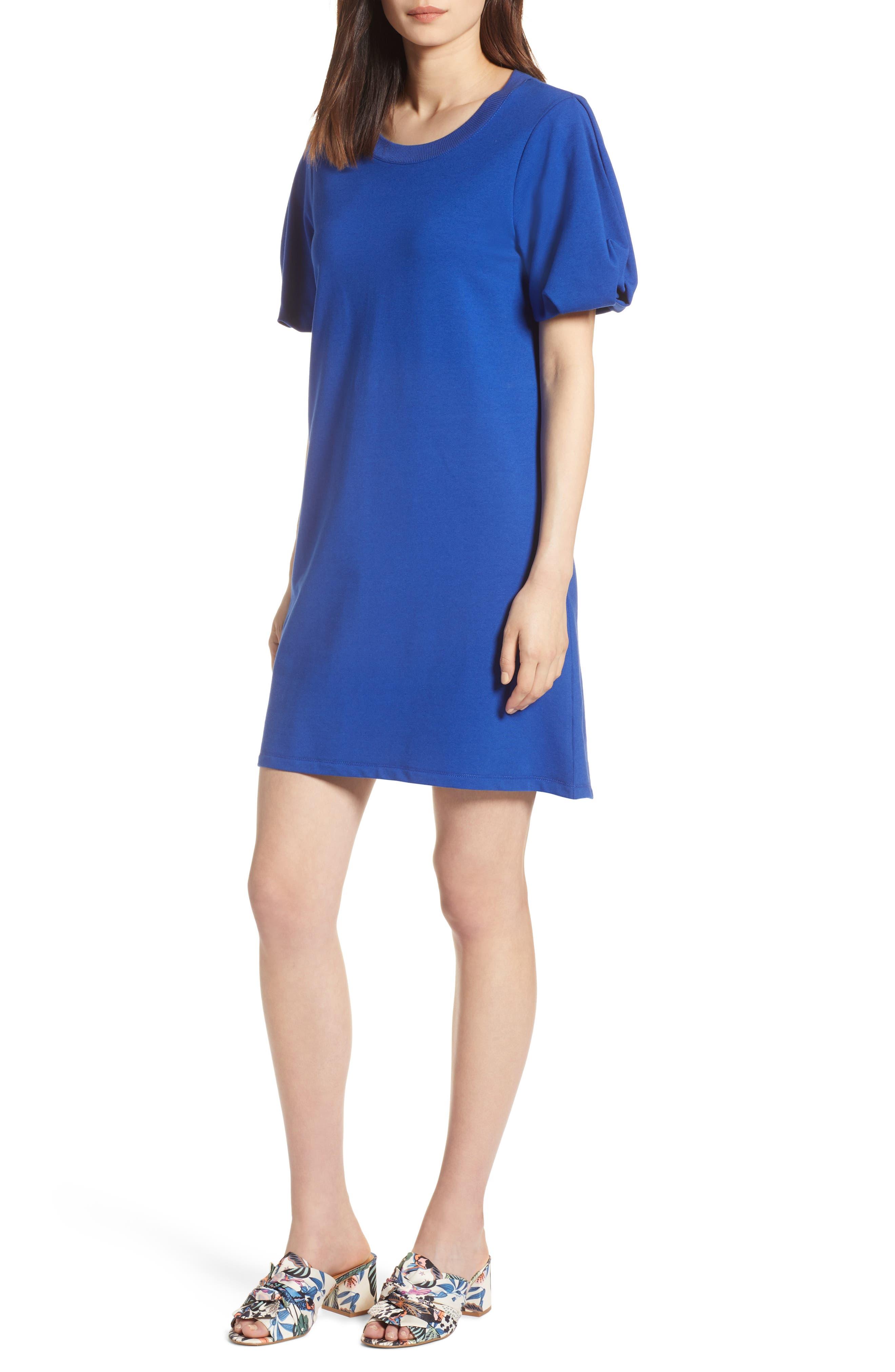 Bubble Sleeve Dress,                             Main thumbnail 4, color,