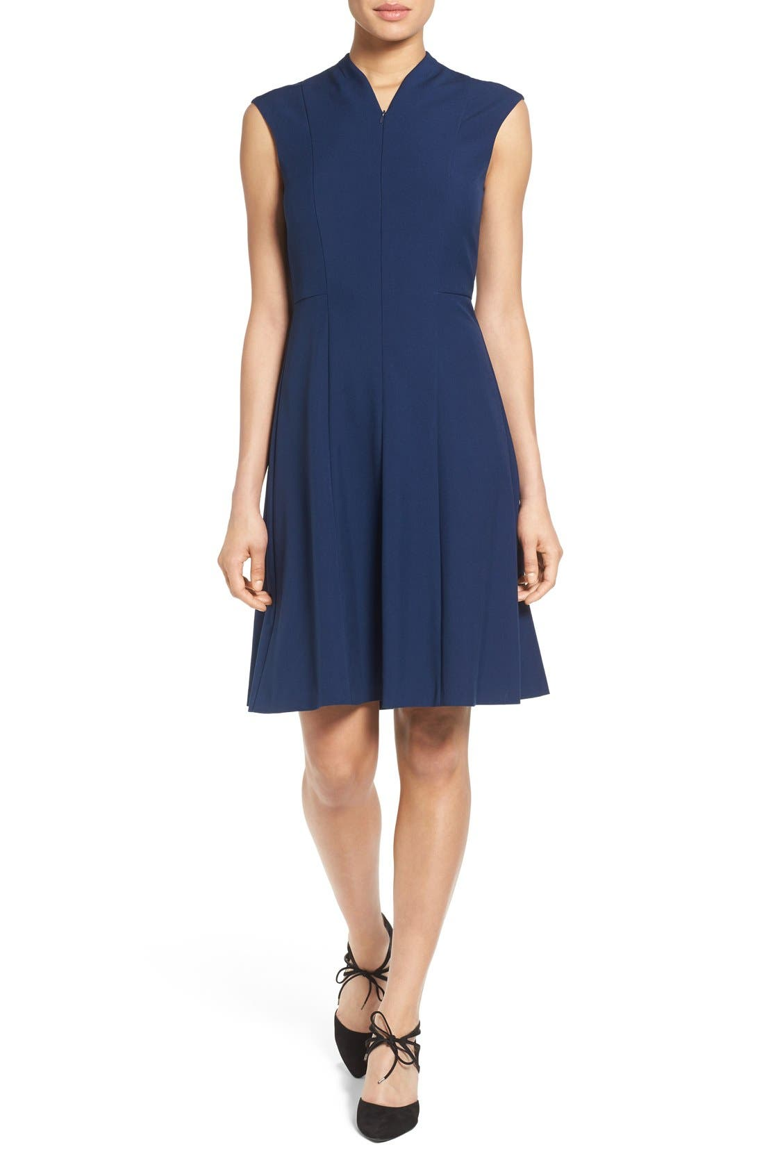 Fit & Flare Dress,                             Main thumbnail 4, color,