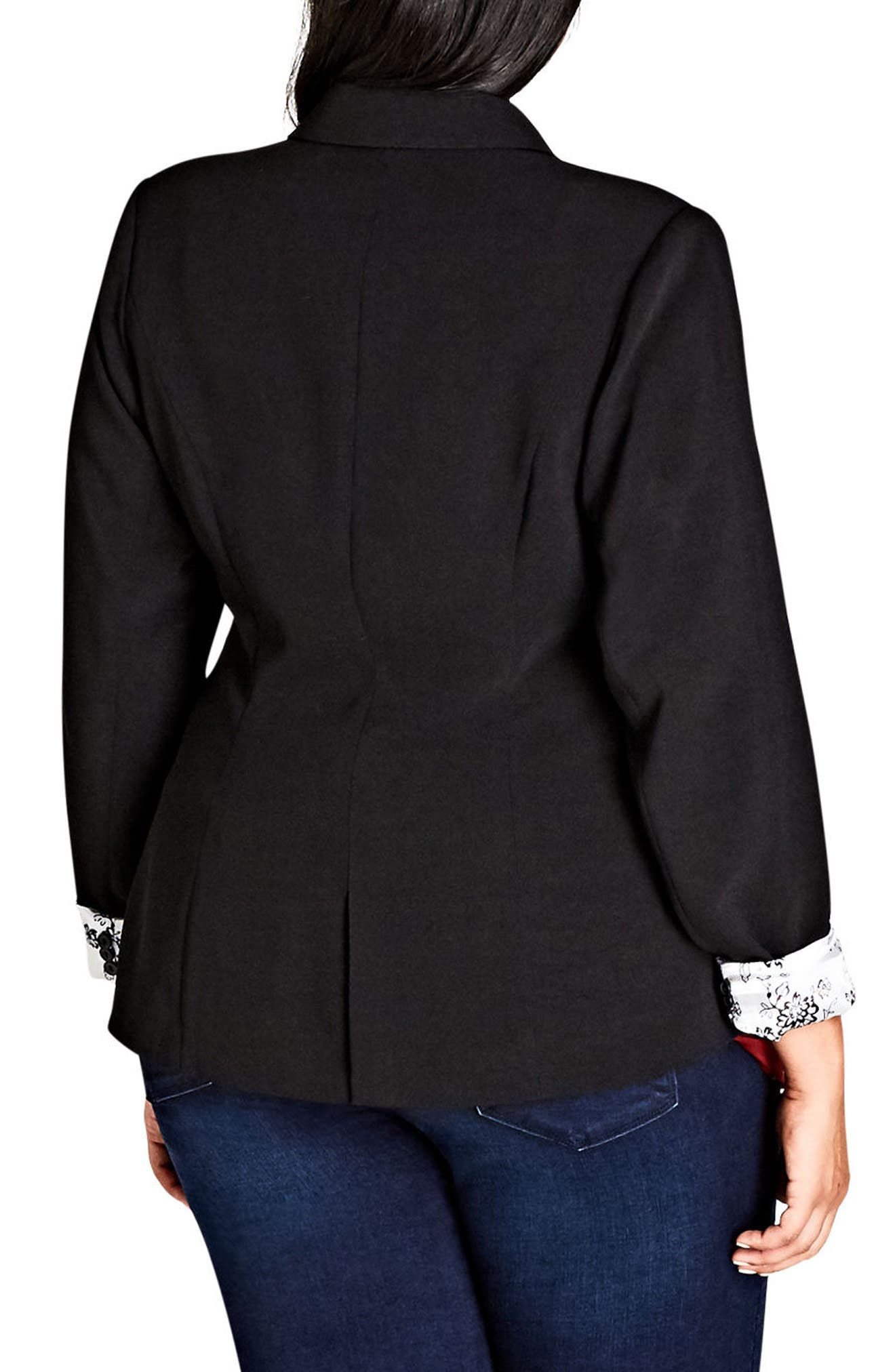 Rolled Cuff Jacket,                             Alternate thumbnail 2, color,                             BLACK