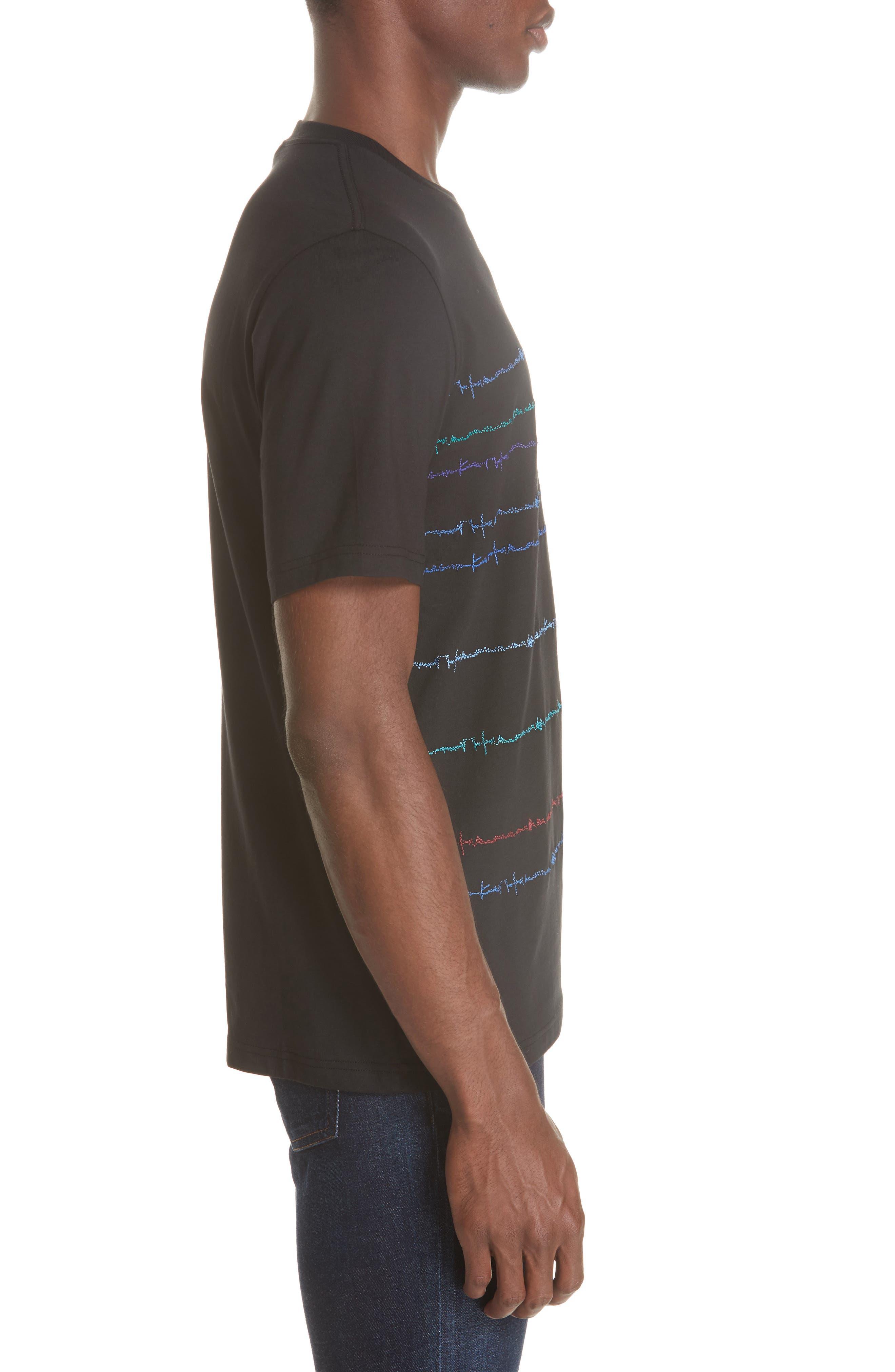 Noise Print T-Shirt,                             Alternate thumbnail 3, color,                             BLACK