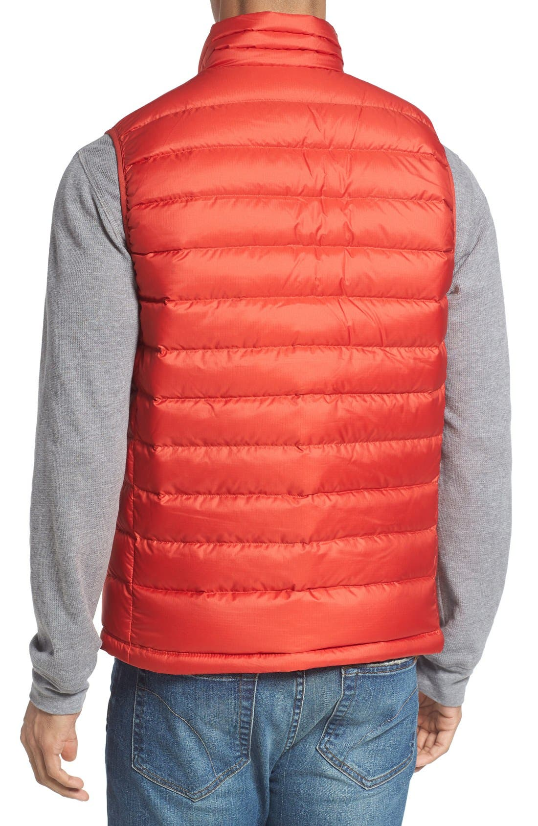 Windproof & Water Resistant 800 Fill Power Down Quilted Vest,                             Alternate thumbnail 15, color,