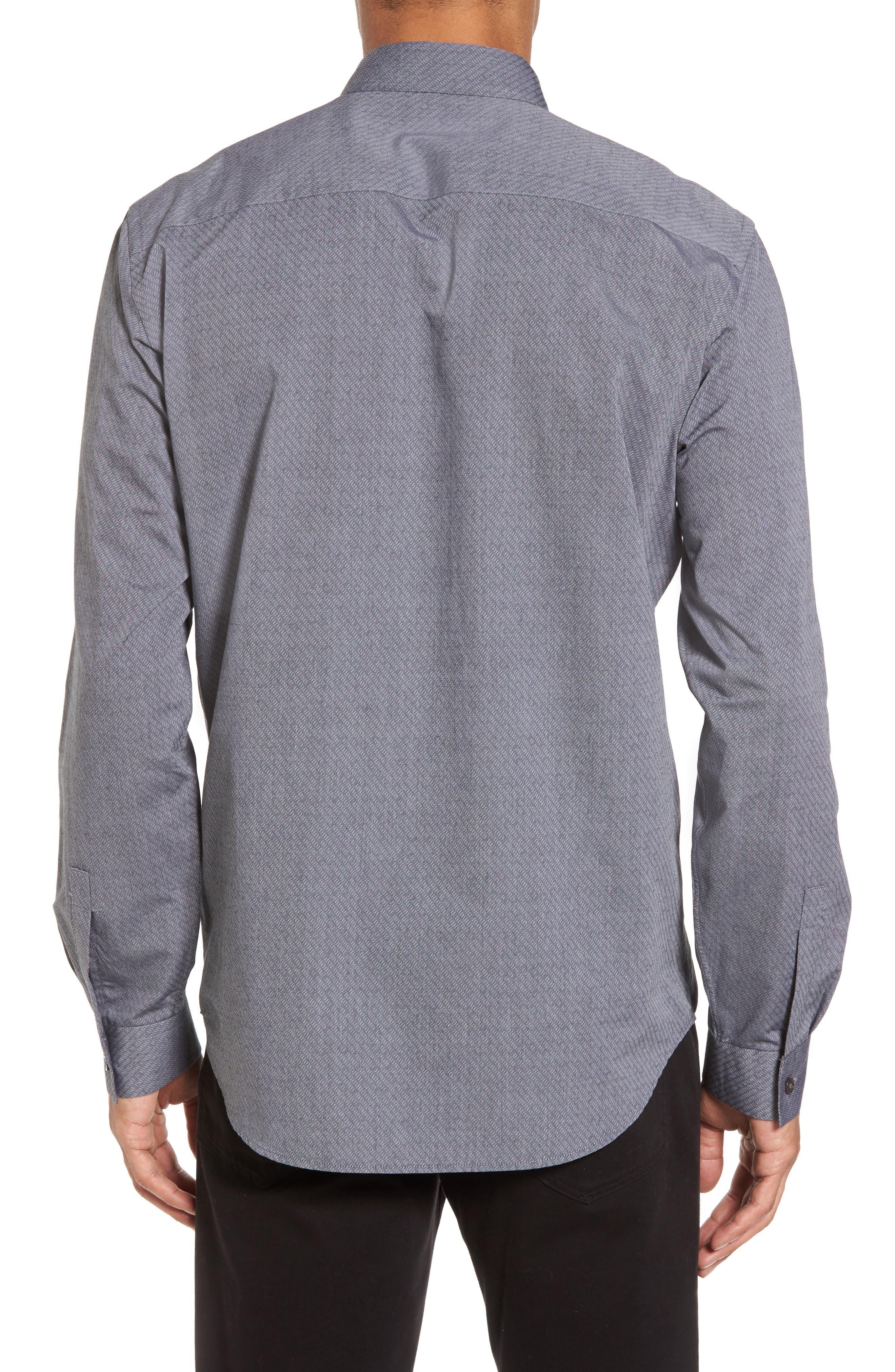 Storm Trim Fit Solid Sport Shirt,                             Alternate thumbnail 2, color,