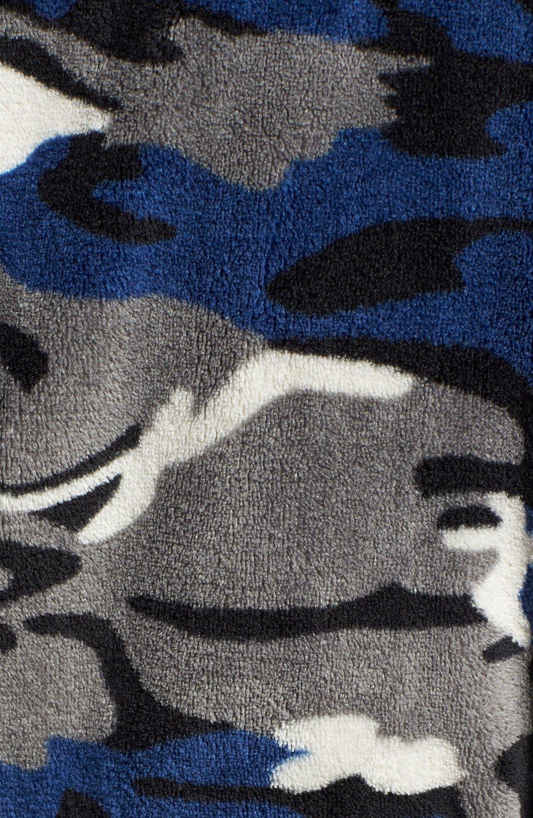 Camo Fleece Robe,                             Alternate thumbnail 5, color,                             411