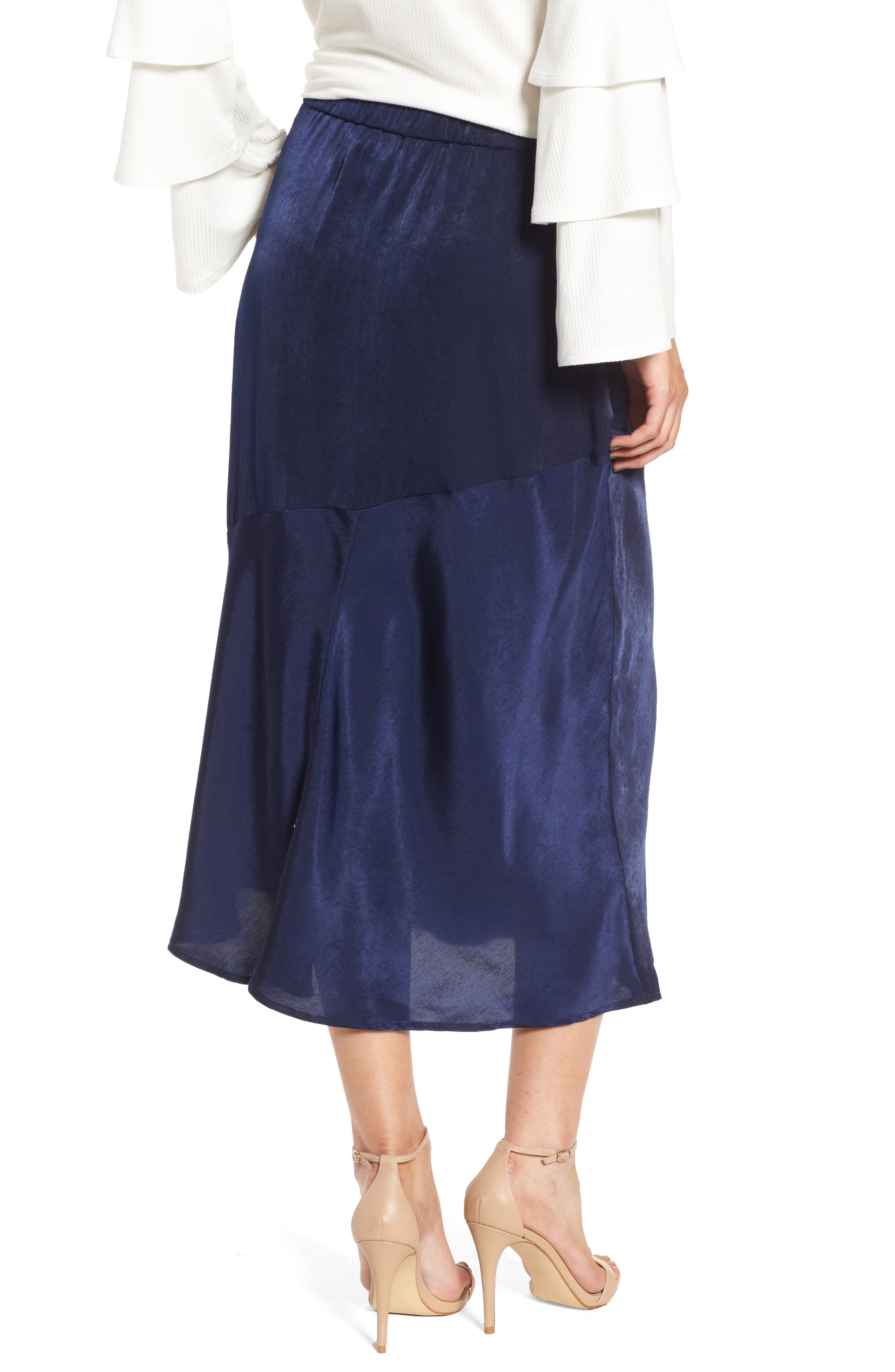 BP Satin Midi Skirt,                             Alternate thumbnail 2, color,                             410