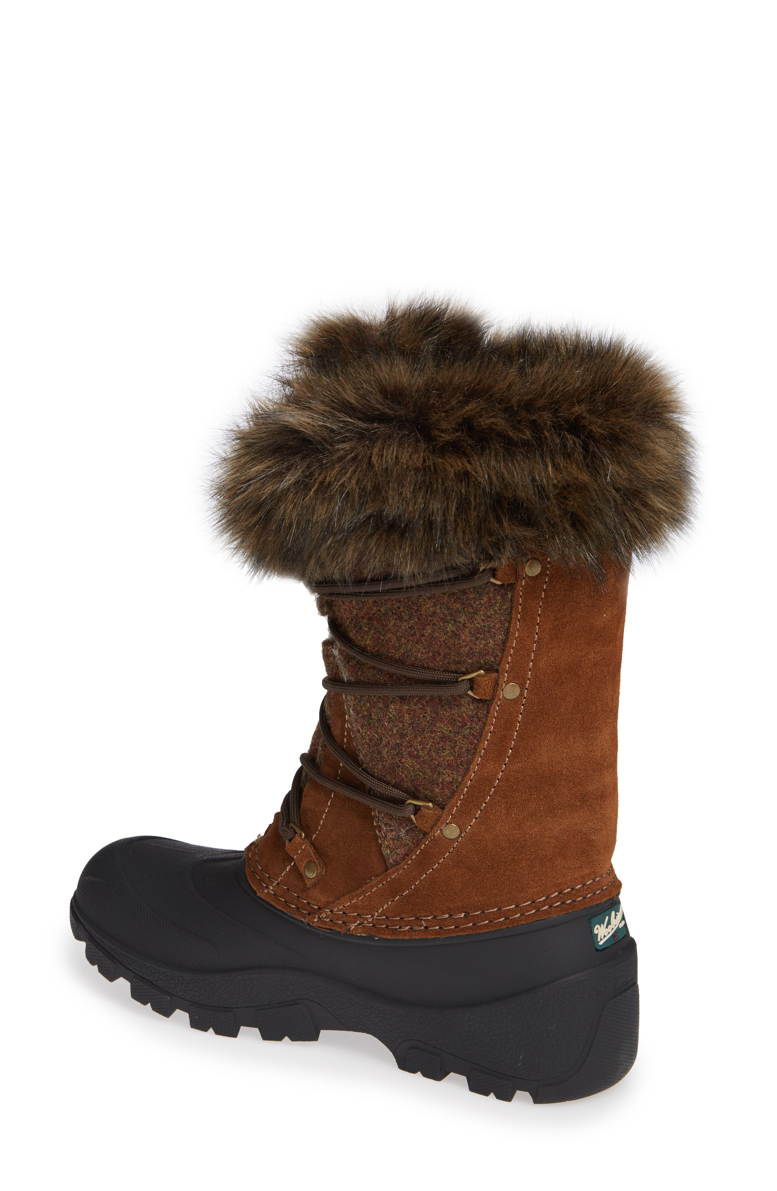 Ice Cougar Waterproof Knee High Winter Boot with Faux Fur Trim,                             Alternate thumbnail 2, color,                             DACHSHUND WOOL