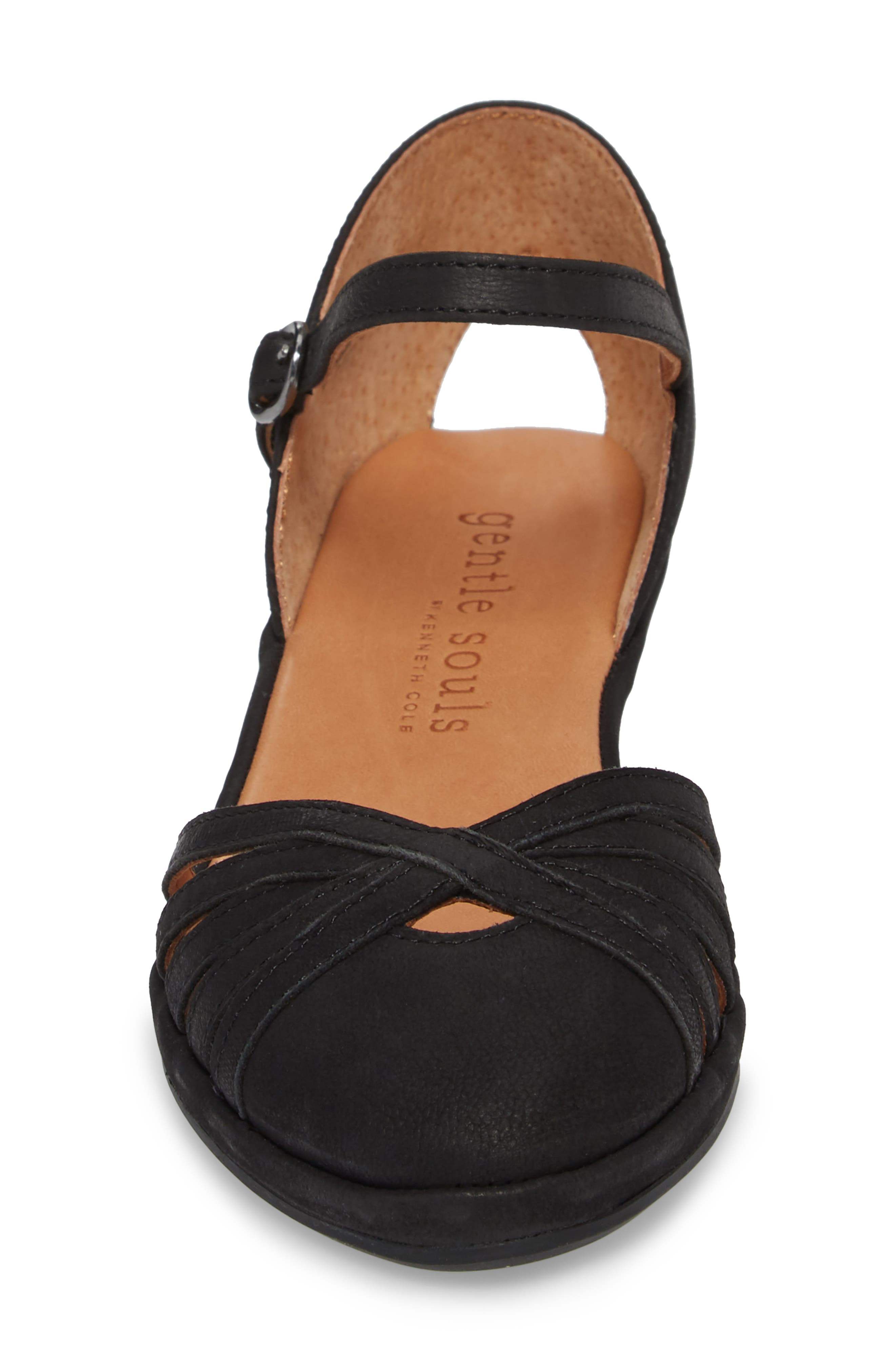 by Kenneth Cole Naira Wedge,                             Alternate thumbnail 4, color,                             BLACK NUBUCK