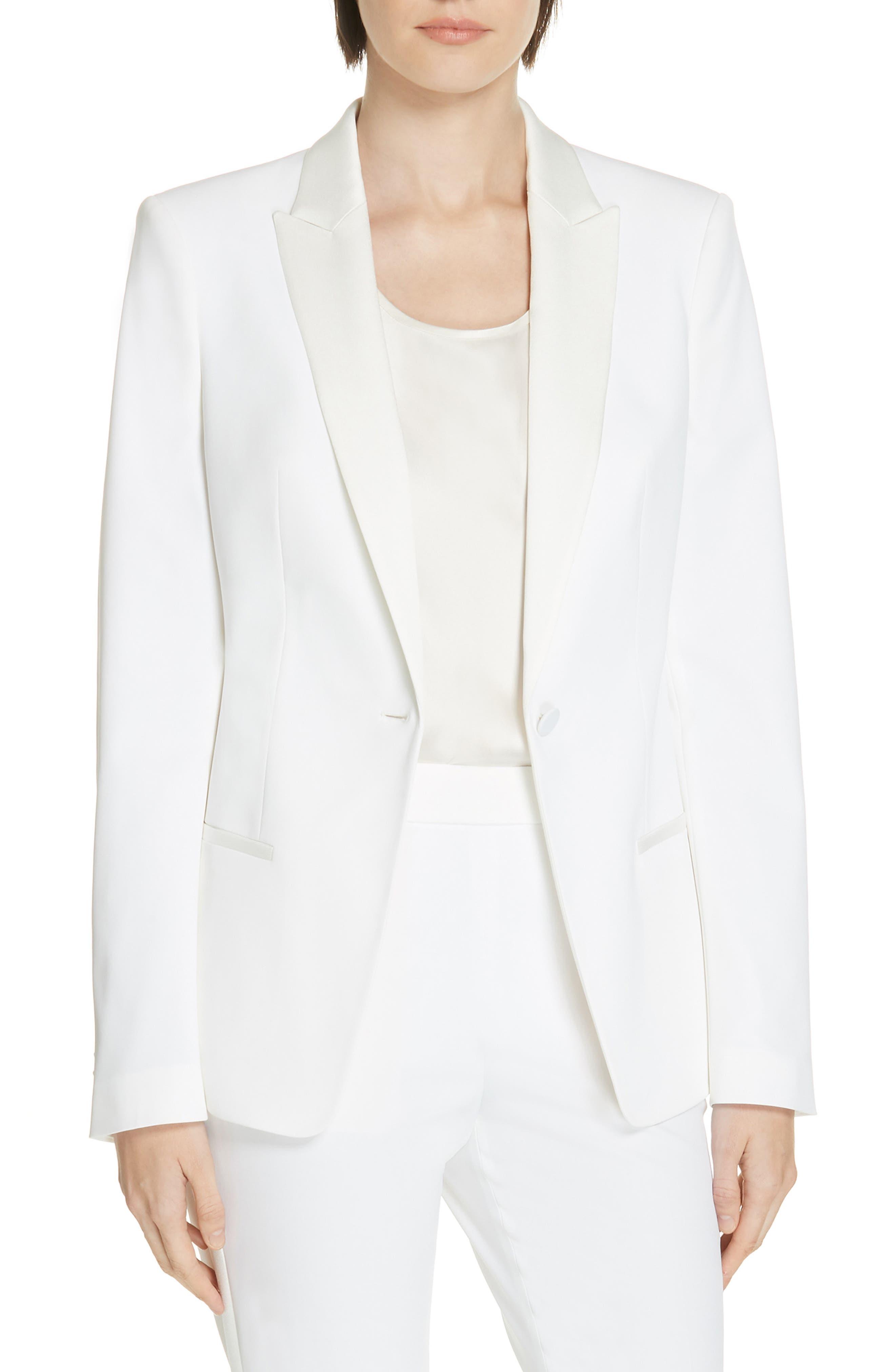 BOSS Jaxtiny Tux Stretch Jacket in Vanilla Light