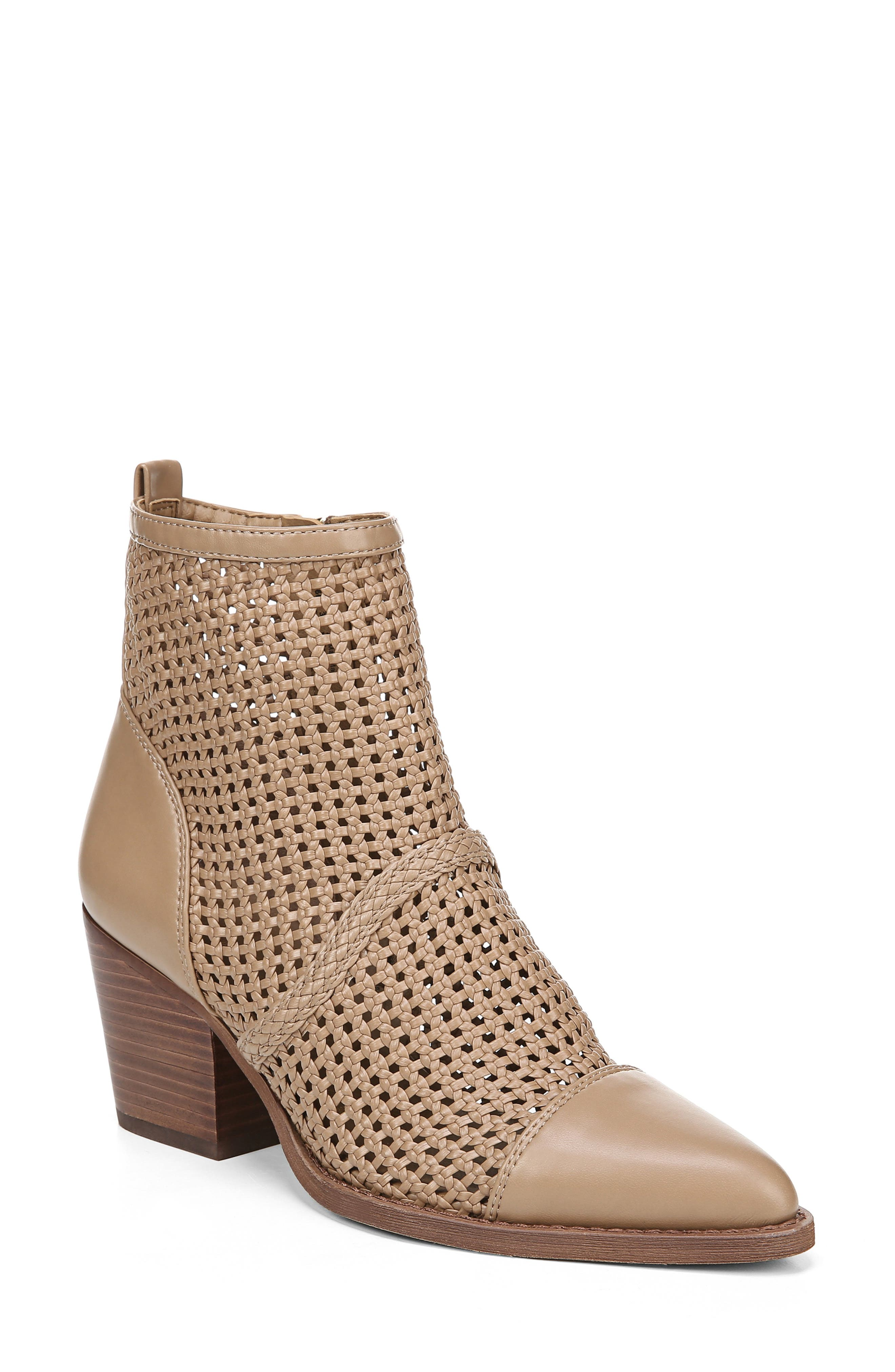 Sam Edelman Elita Woven Cap Toe Bootie, Brown