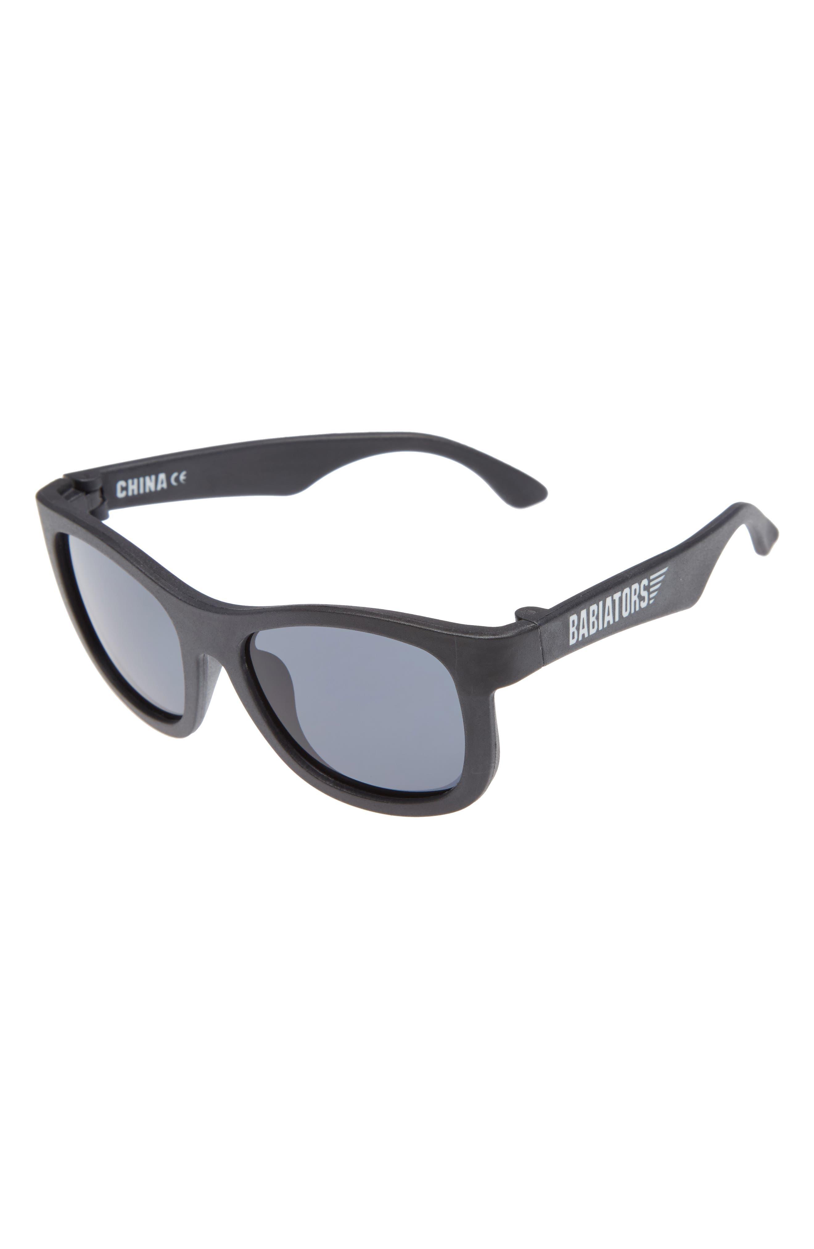Matte Frame Navigator Sunglasses,                         Main,                         color, 001
