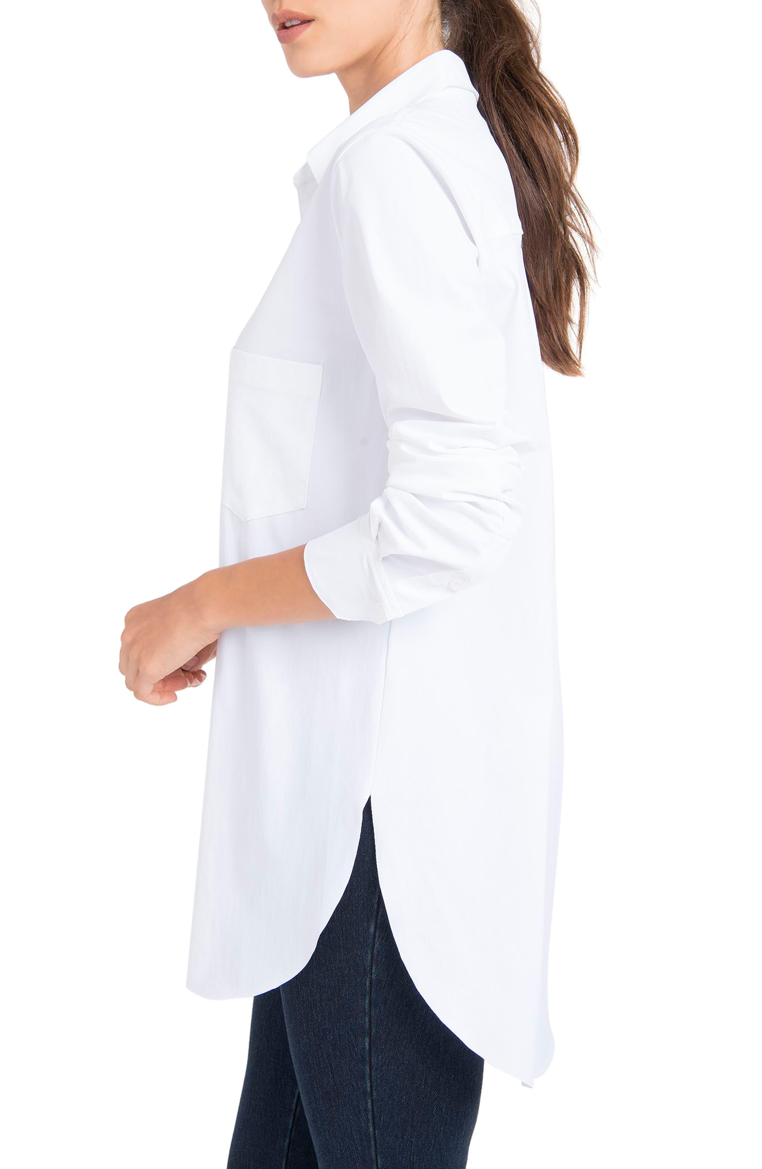 LYSSÉ,                             Schiffer Shirt,                             Alternate thumbnail 3, color,                             WHITE