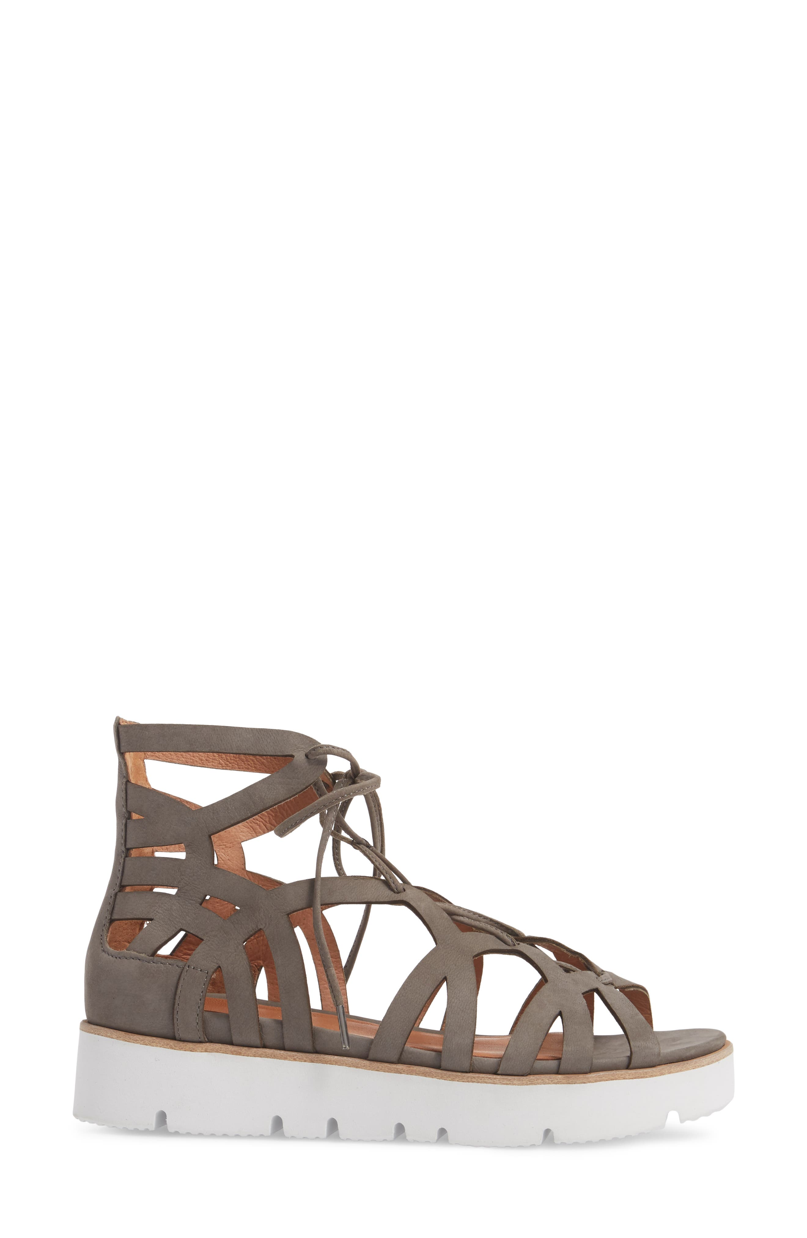 by Kenneth Cole Larina Lace-Up Sandal,                             Alternate thumbnail 8, color,