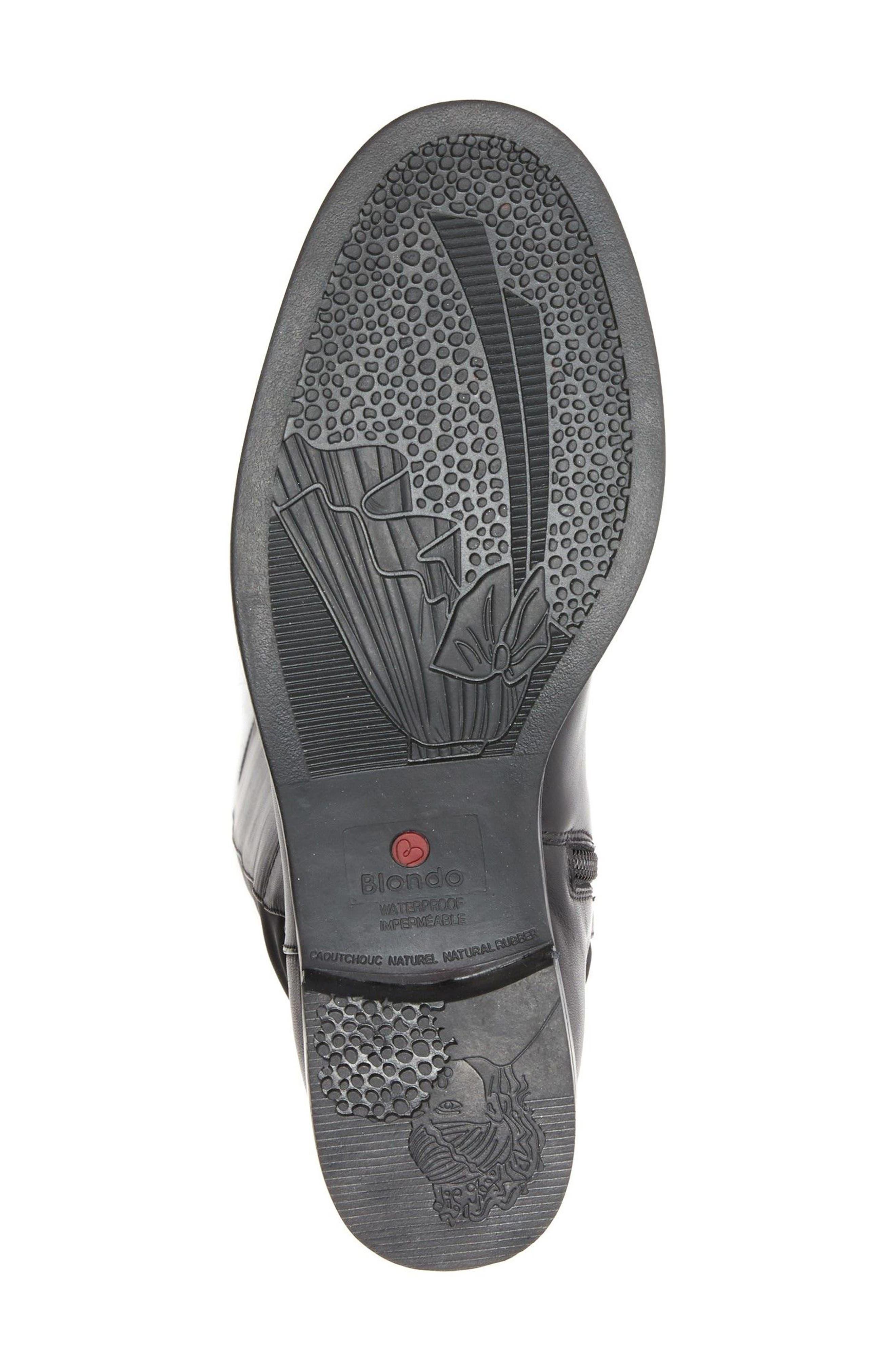 Ellie Waterproof Knee High Riding Boot,                             Alternate thumbnail 6, color,                             BLACK LEATHER
