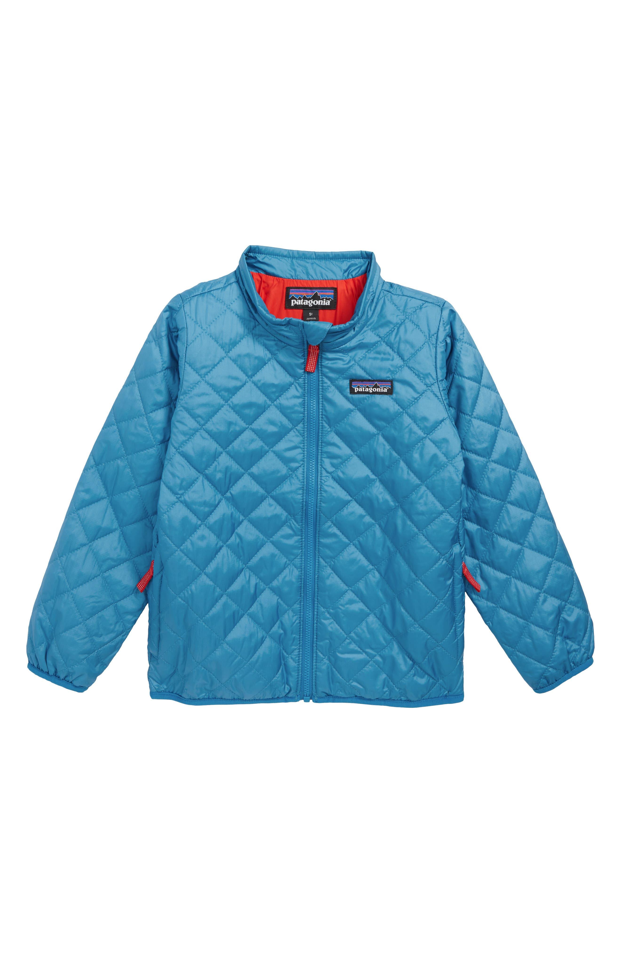 PATAGONIA,                             Nano Puff<sup>®</sup> Quilted Water Resistant Jacket,                             Main thumbnail 1, color,                             BALKAN BLUE