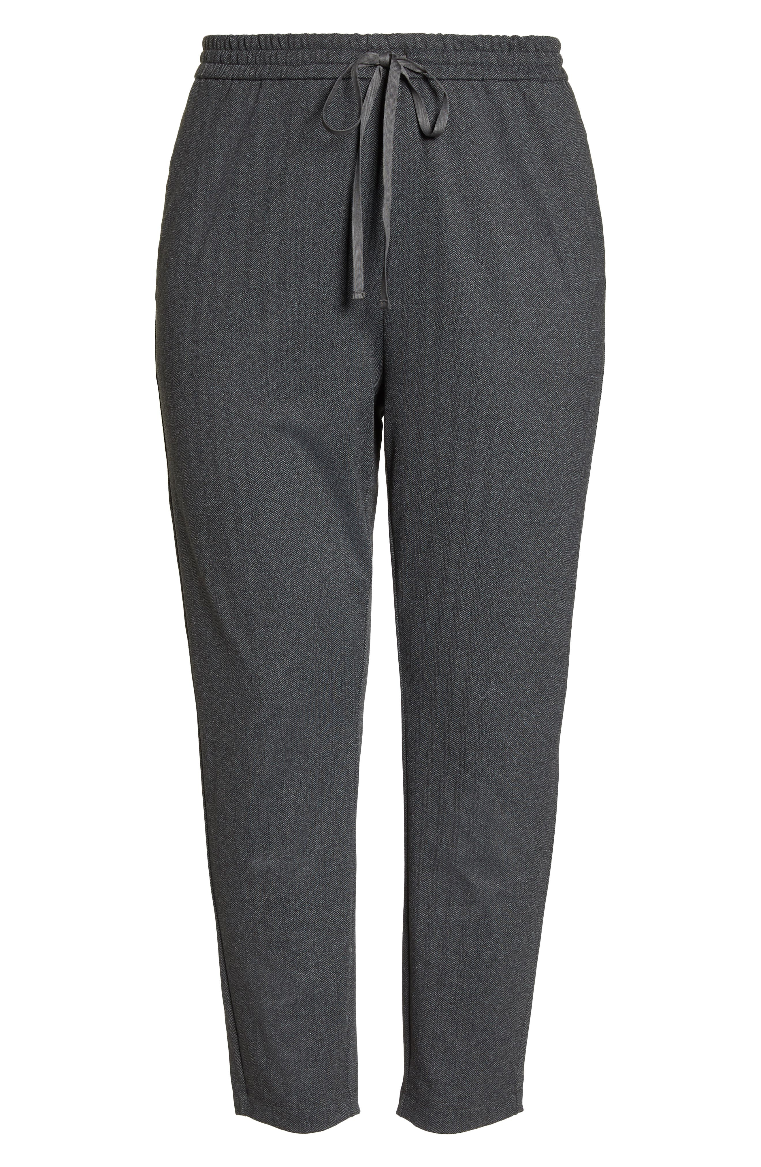 EILEEN FISHER,                             Slouchy Drawstring Pants,                             Alternate thumbnail 6, color,                             021