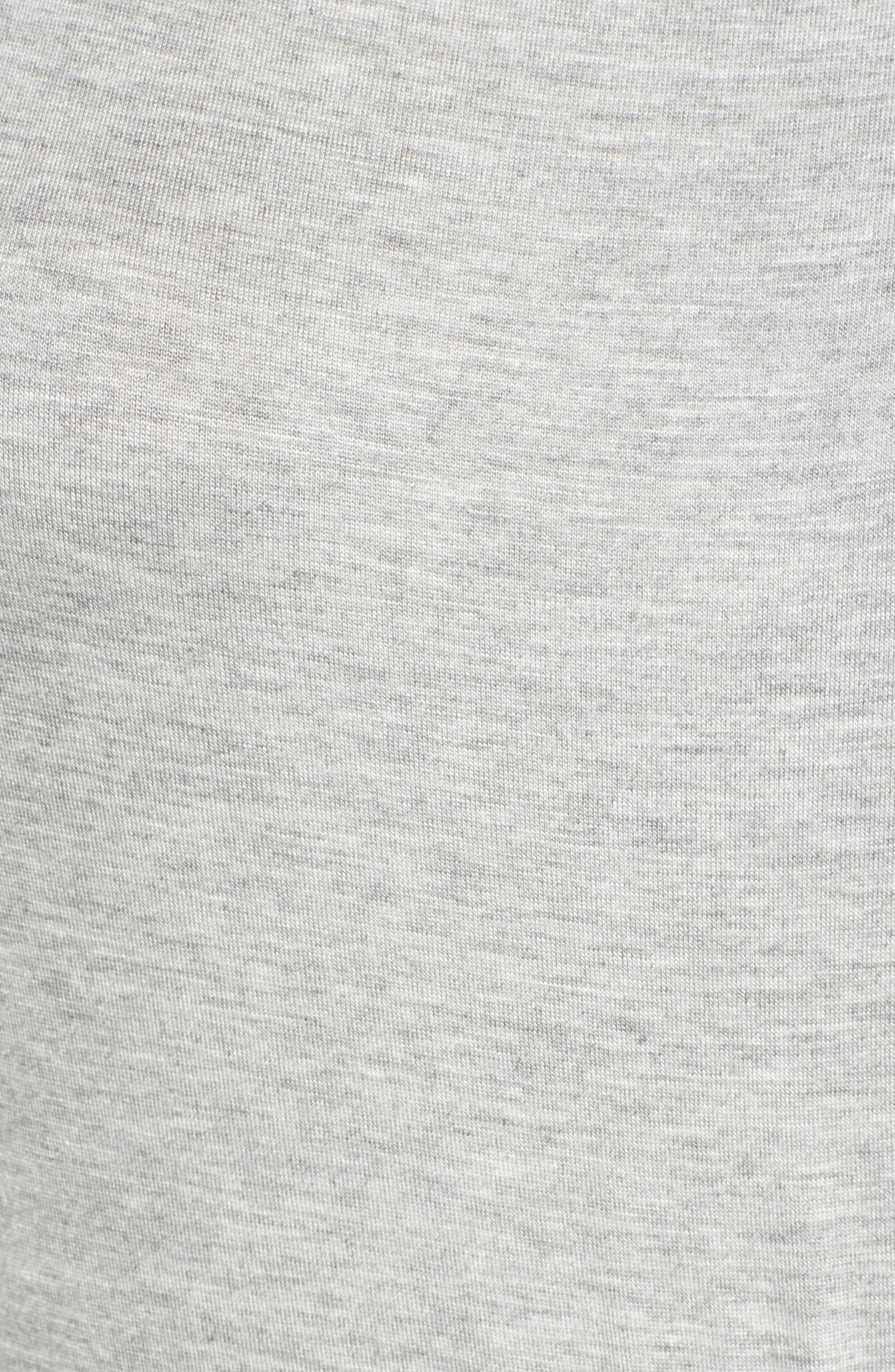 CASLON<SUP>®</SUP>,                             Front Gathered Maxi Dress,                             Alternate thumbnail 6, color,                             GREY HEATHER