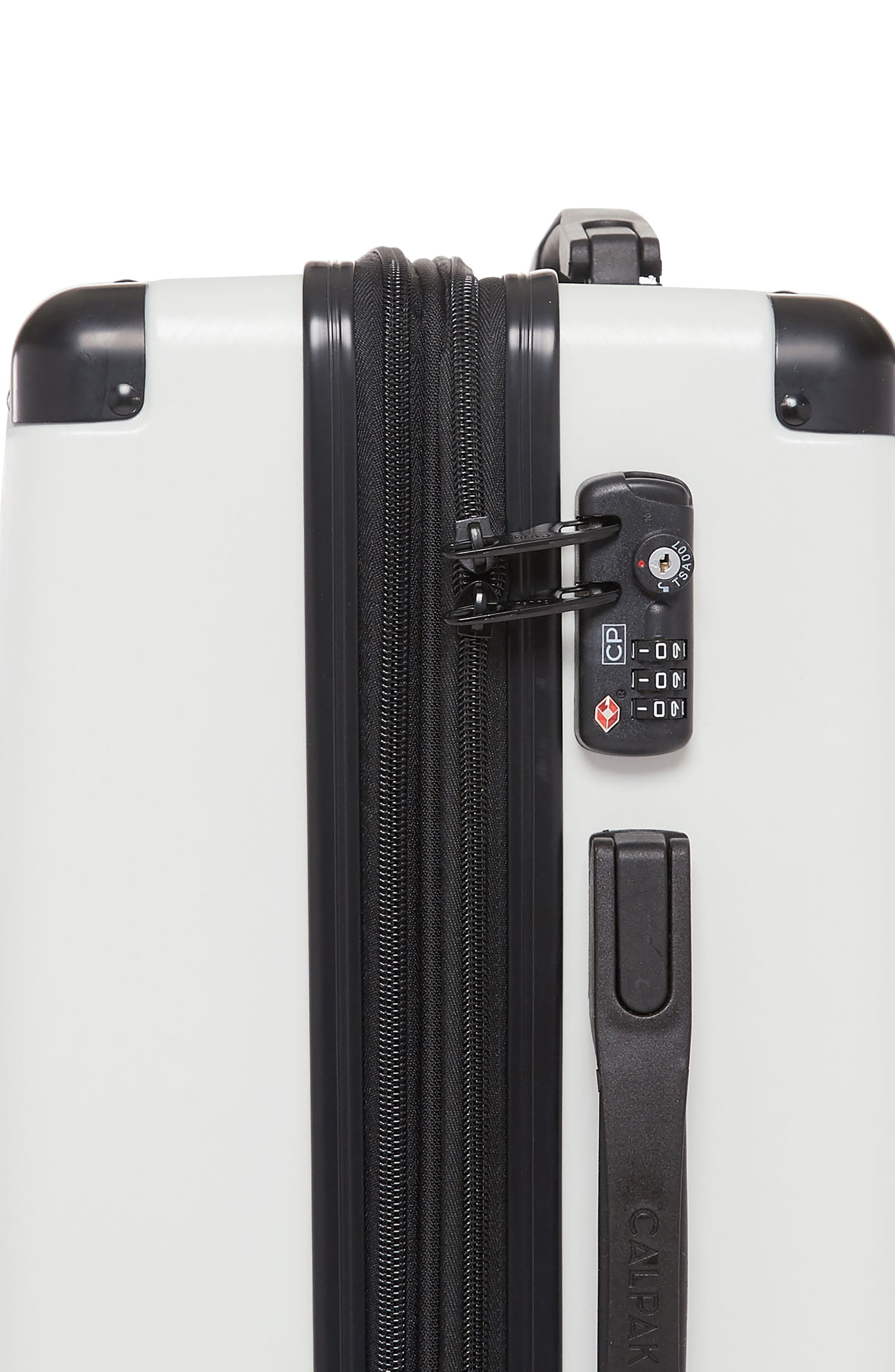 Ambeur 20-Inch Rolling Spinner Carry-On,                             Alternate thumbnail 3, color,                             WHITE