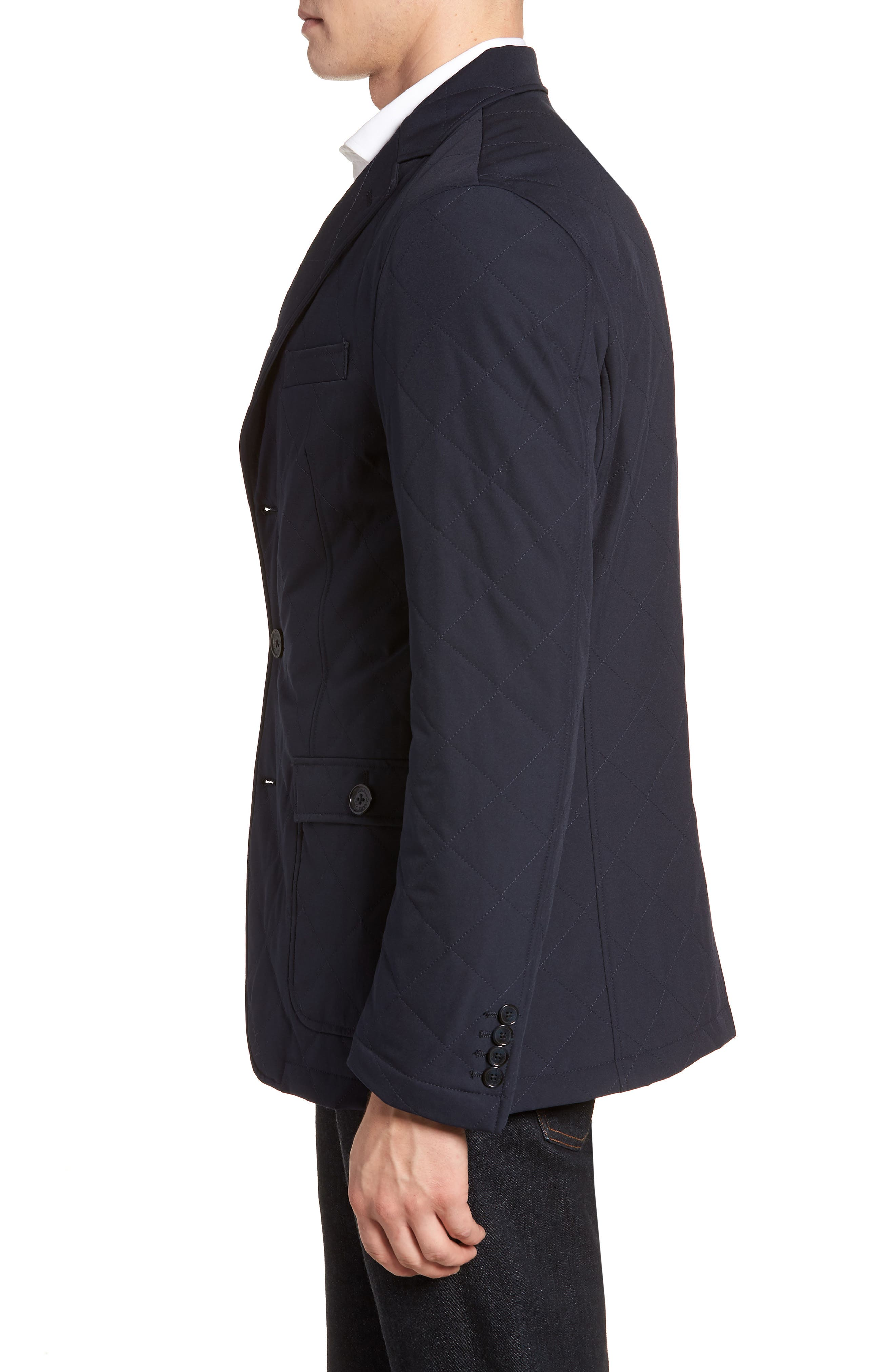 Classic Fit Quilted Blazer,                             Alternate thumbnail 6, color,