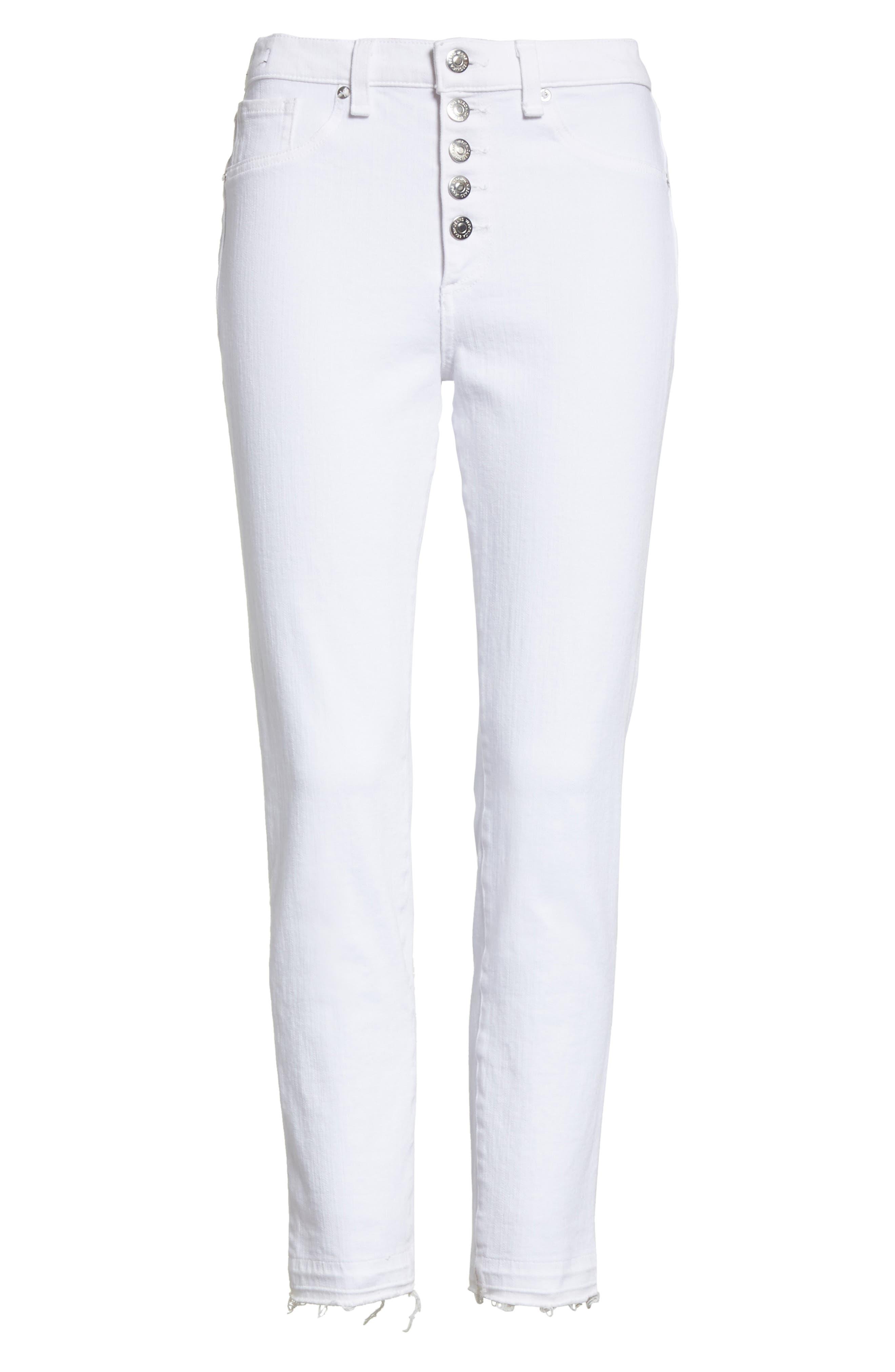 Debbie Frayed Crop Skinny Jeans,                             Alternate thumbnail 21, color,