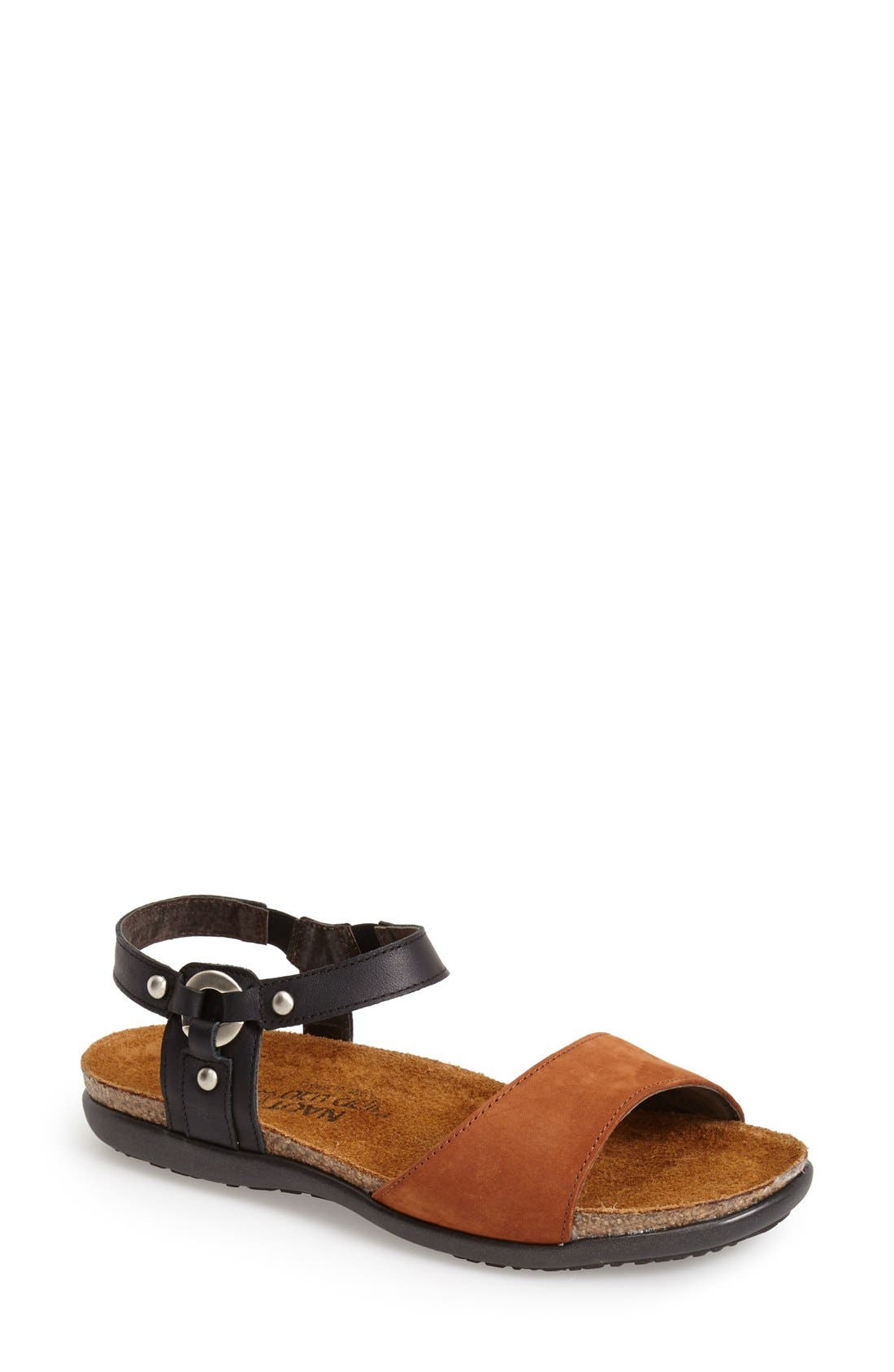 'Sabrina' Sandal,                             Main thumbnail 1, color,                             BLACK/ BROWN