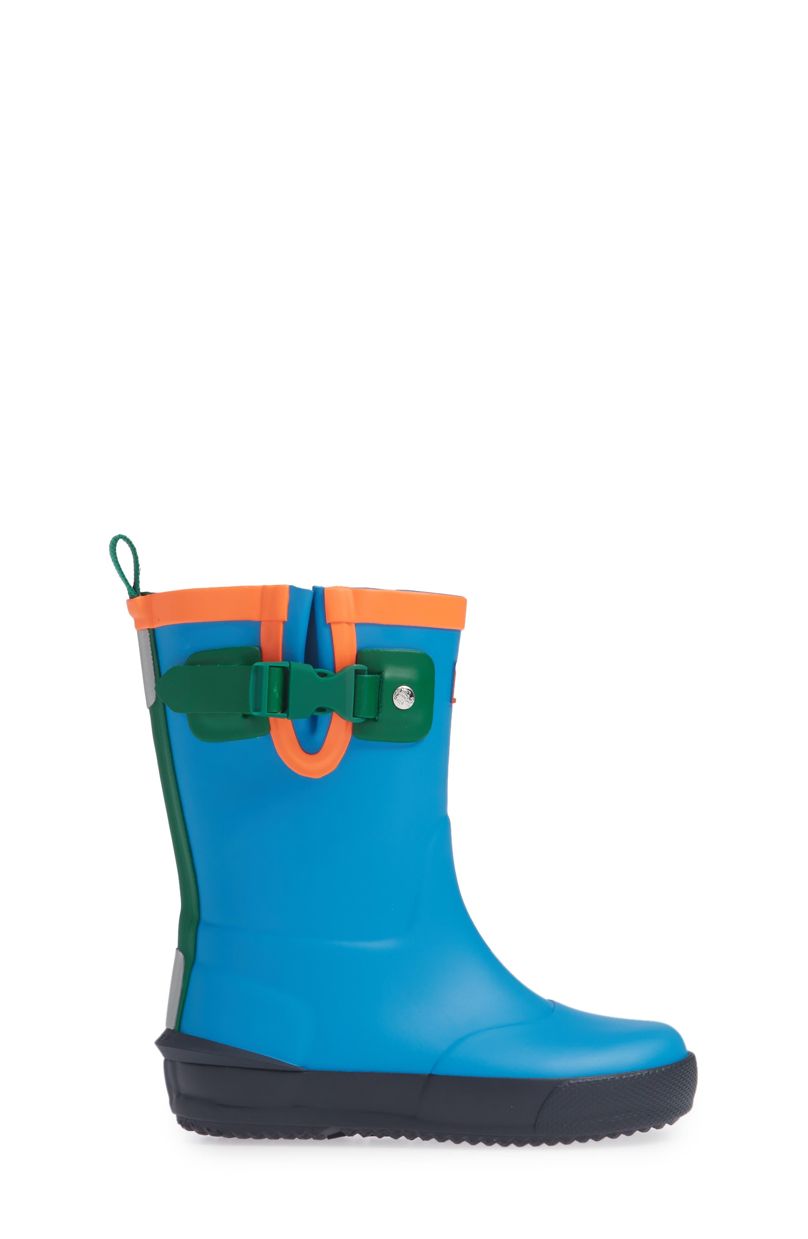 'Davison' Rain Boot,                             Alternate thumbnail 3, color,                             TWILIGHT/ HYPER GREEN/ NAVY