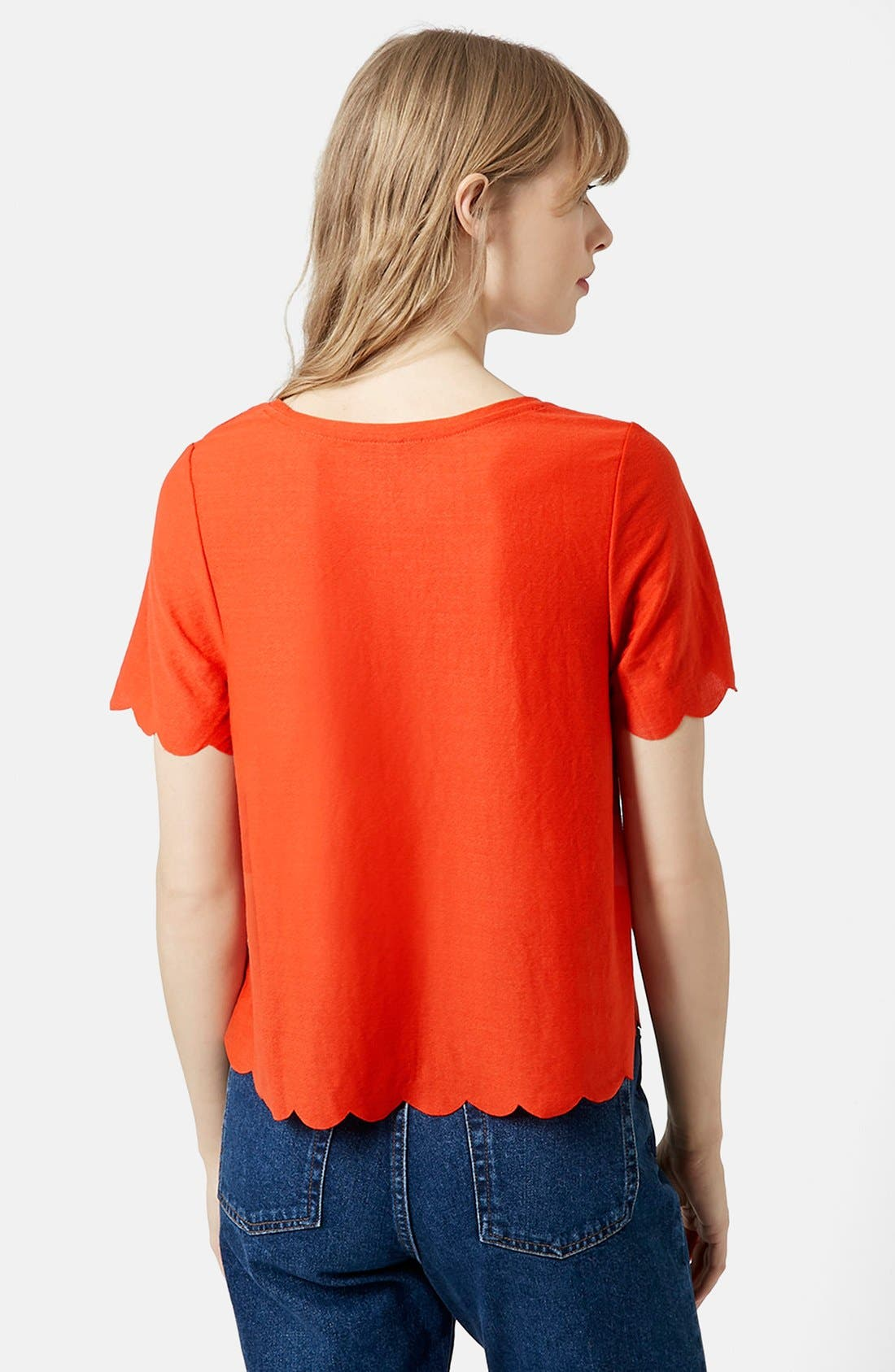 Scallop Frill Tee,                             Alternate thumbnail 30, color,