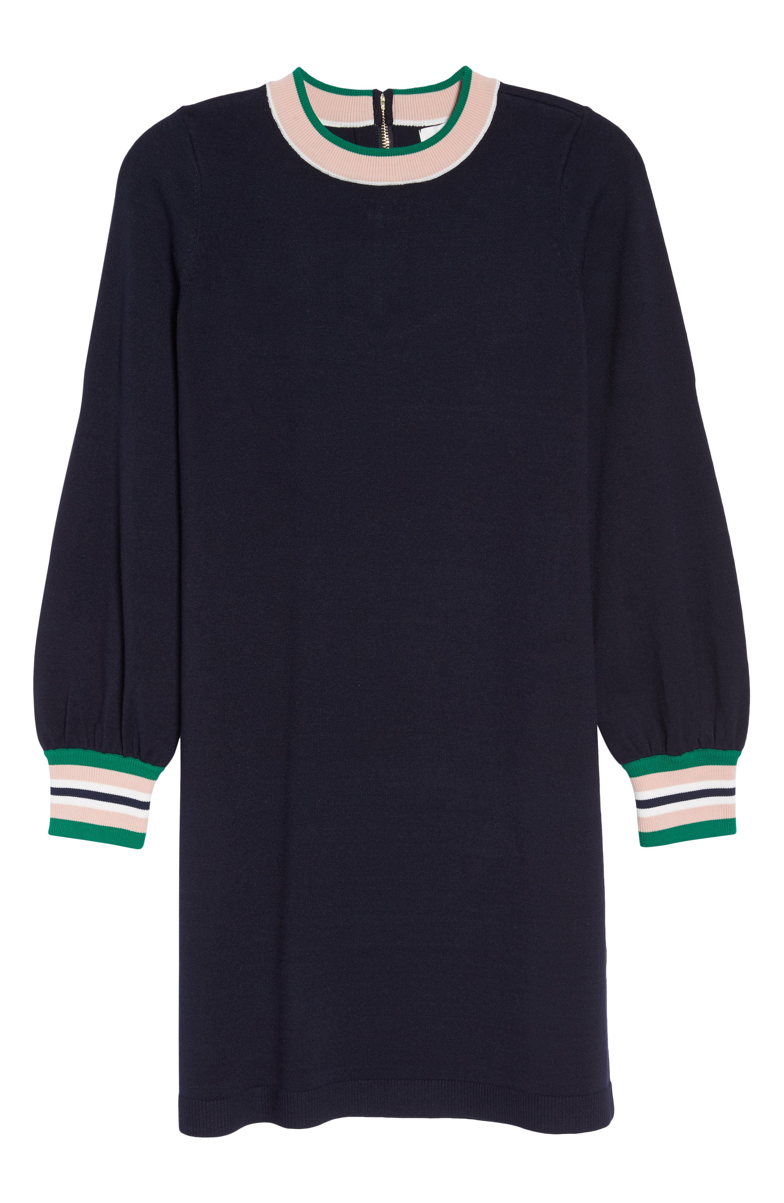 1901,                             Varsity Stripe Sweater Dress,                             Alternate thumbnail 7, color,                             NAVY
