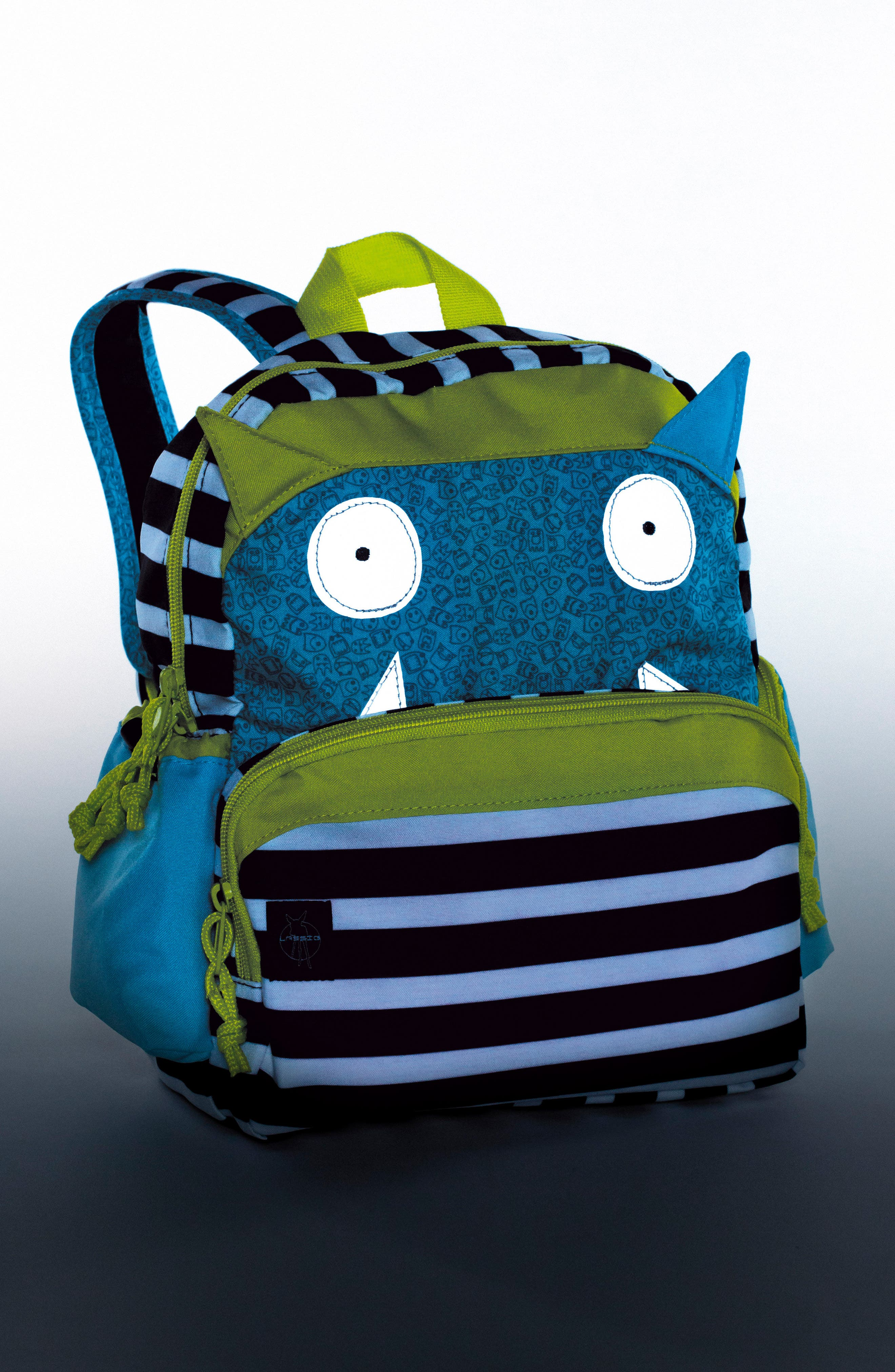 Little Monster Glow in the Dark Mini Backpack,                             Alternate thumbnail 2, color,                             BOUNCING BOB