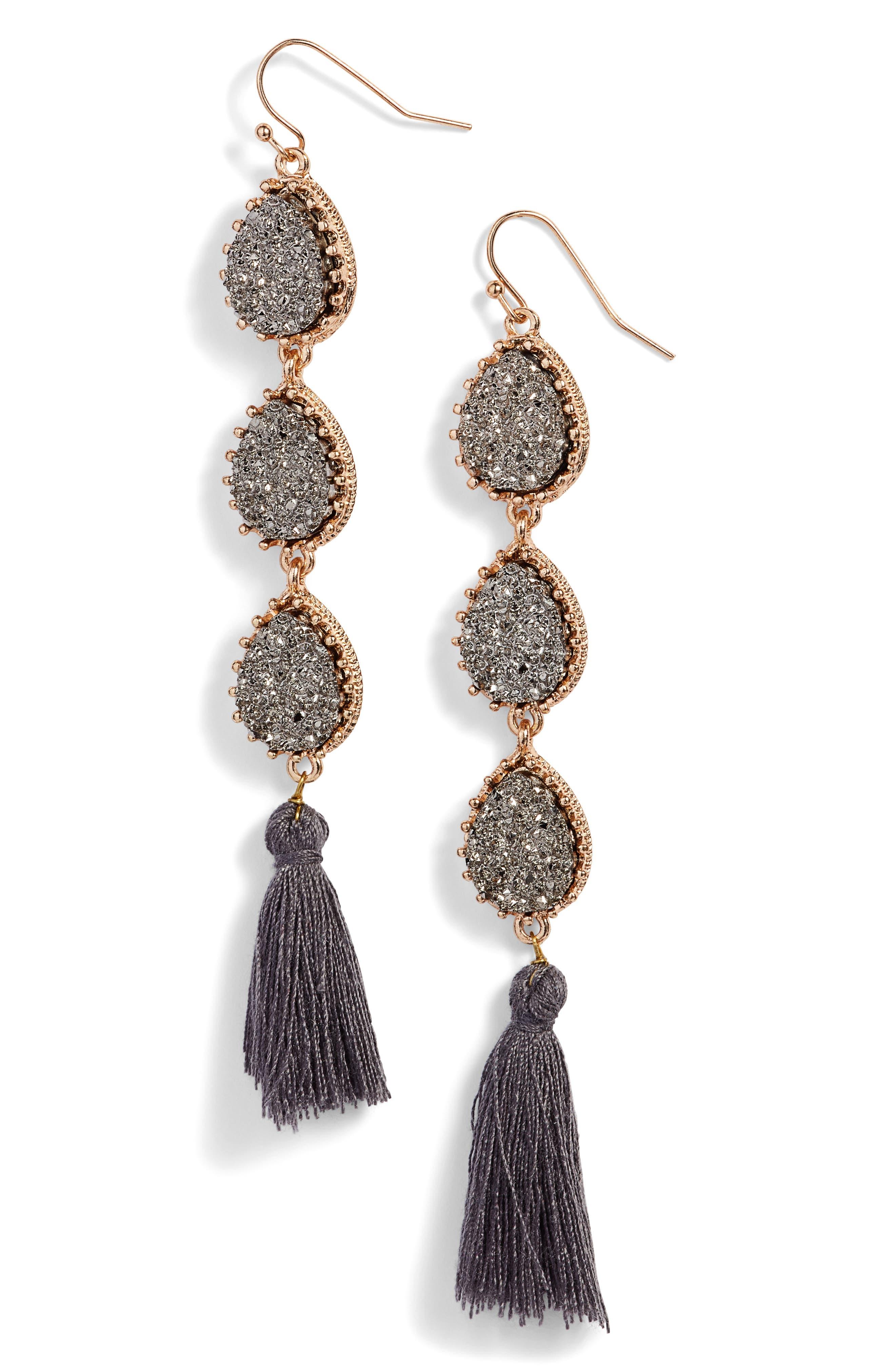 Linear Earrings,                             Main thumbnail 2, color,