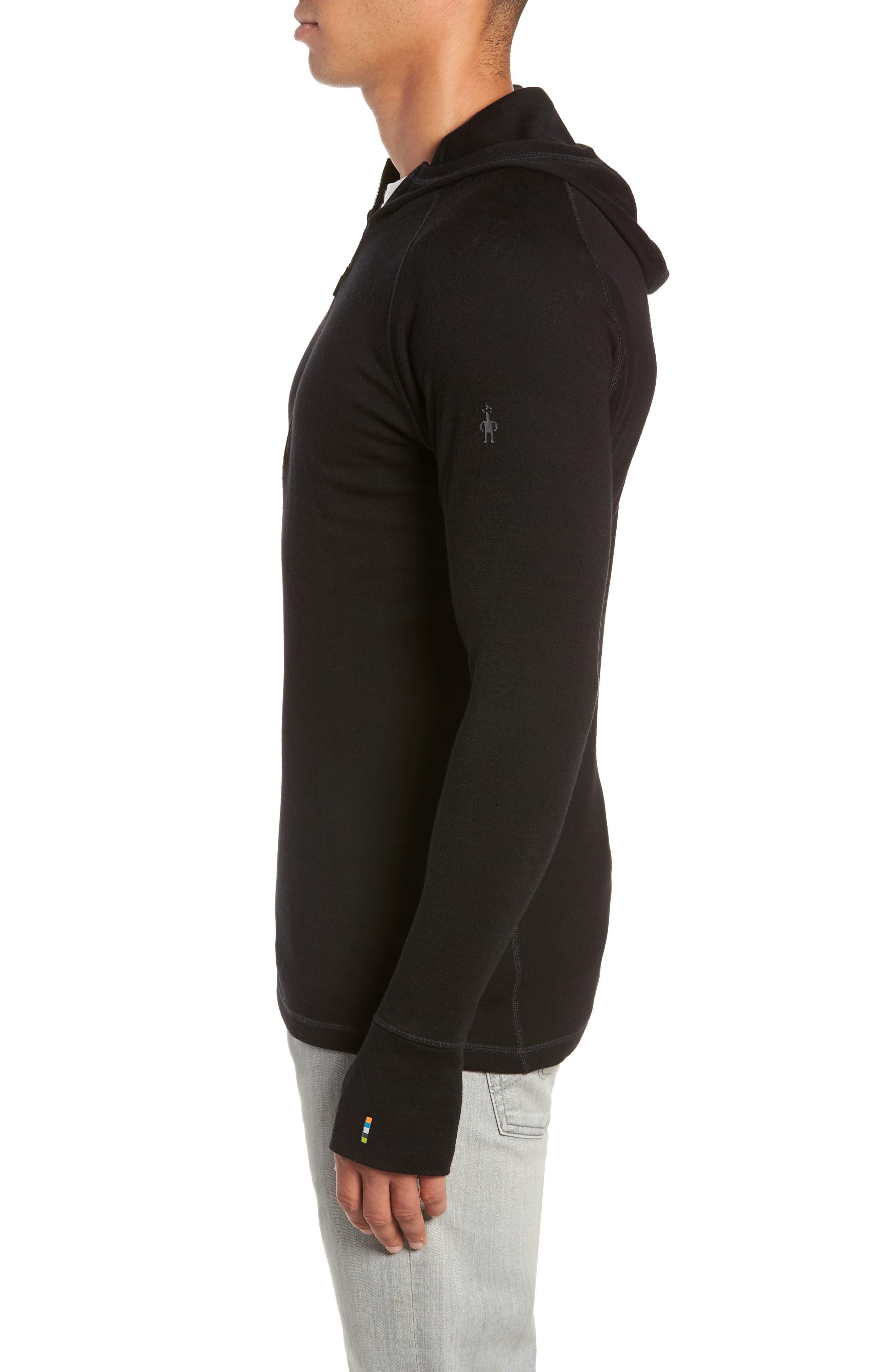 Merino 250 Base Layer Hooded Pullover,                             Alternate thumbnail 3, color,                             001