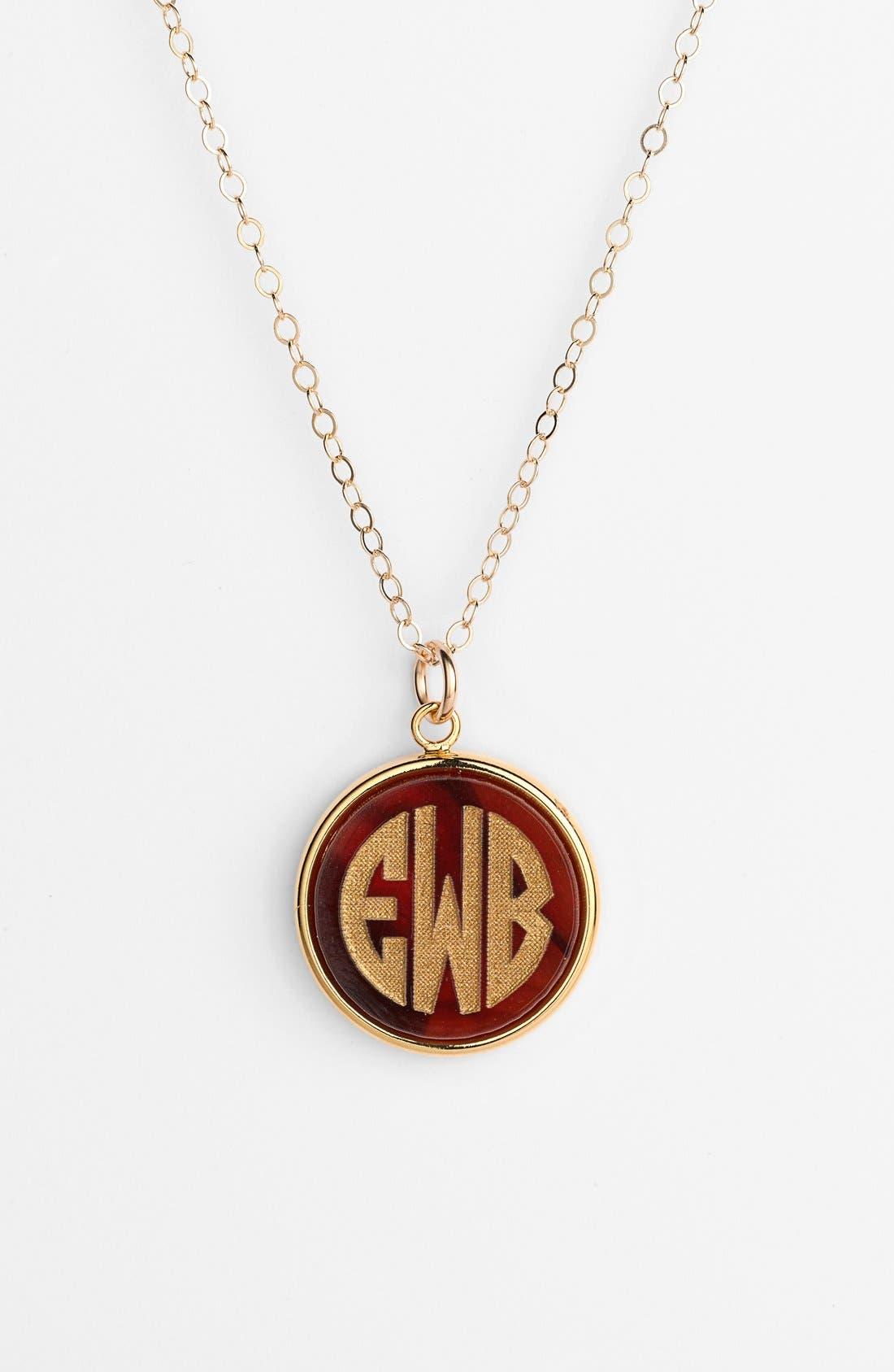 'Vineyard' Personalized Monogram Pendant Necklace,                             Main thumbnail 4, color,