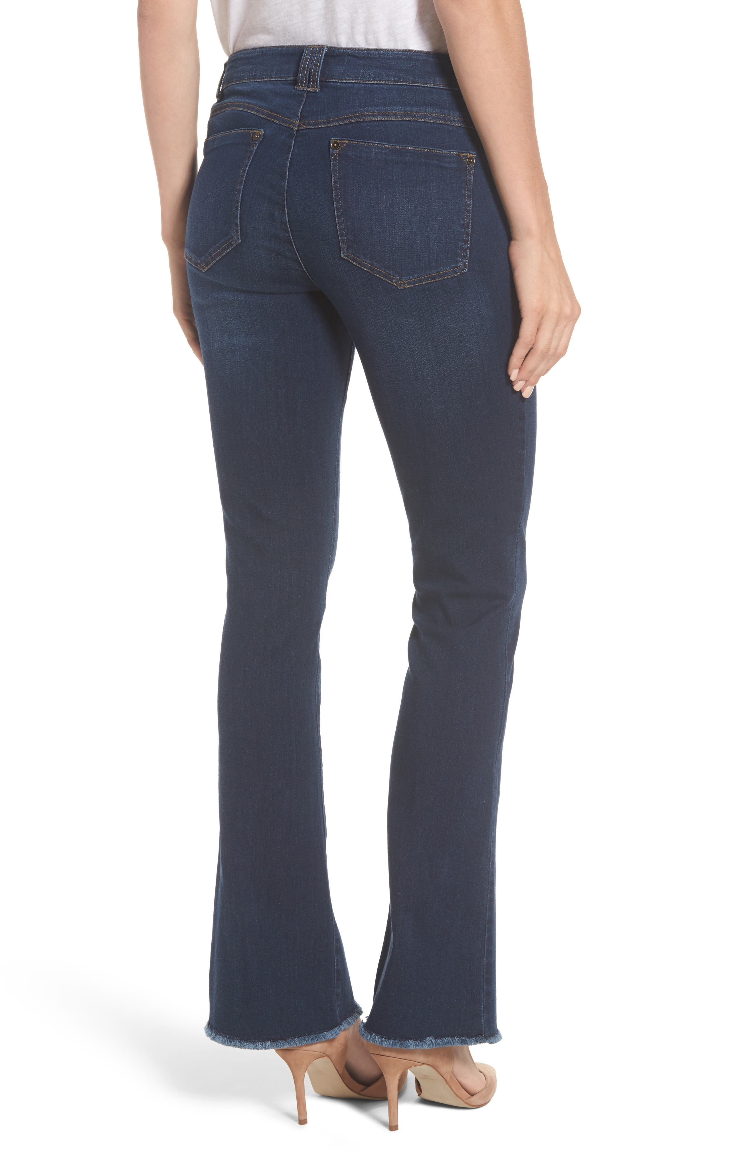 Itty Bitty Split Hem Bootcut Jeans,                             Alternate thumbnail 2, color,