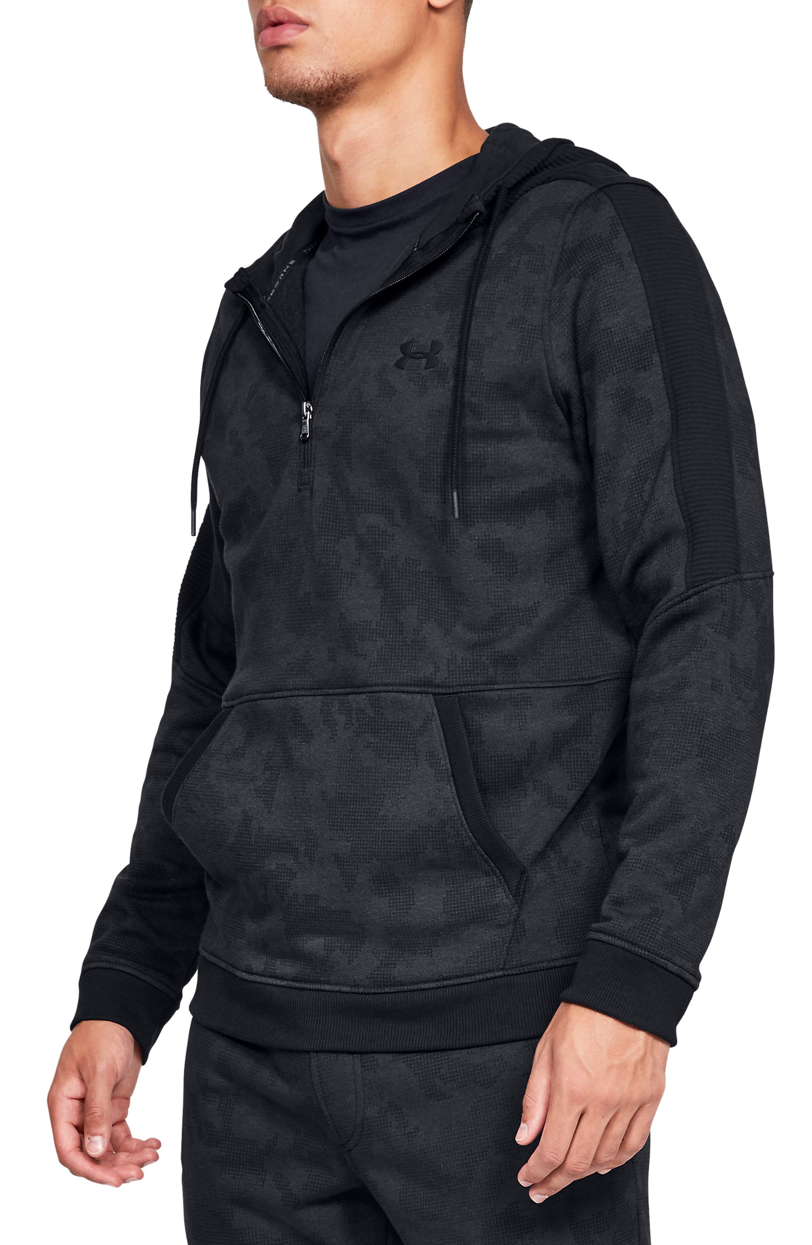 Threadborne Siro Camo Half Zip Hoodie,                         Main,                         color, 001