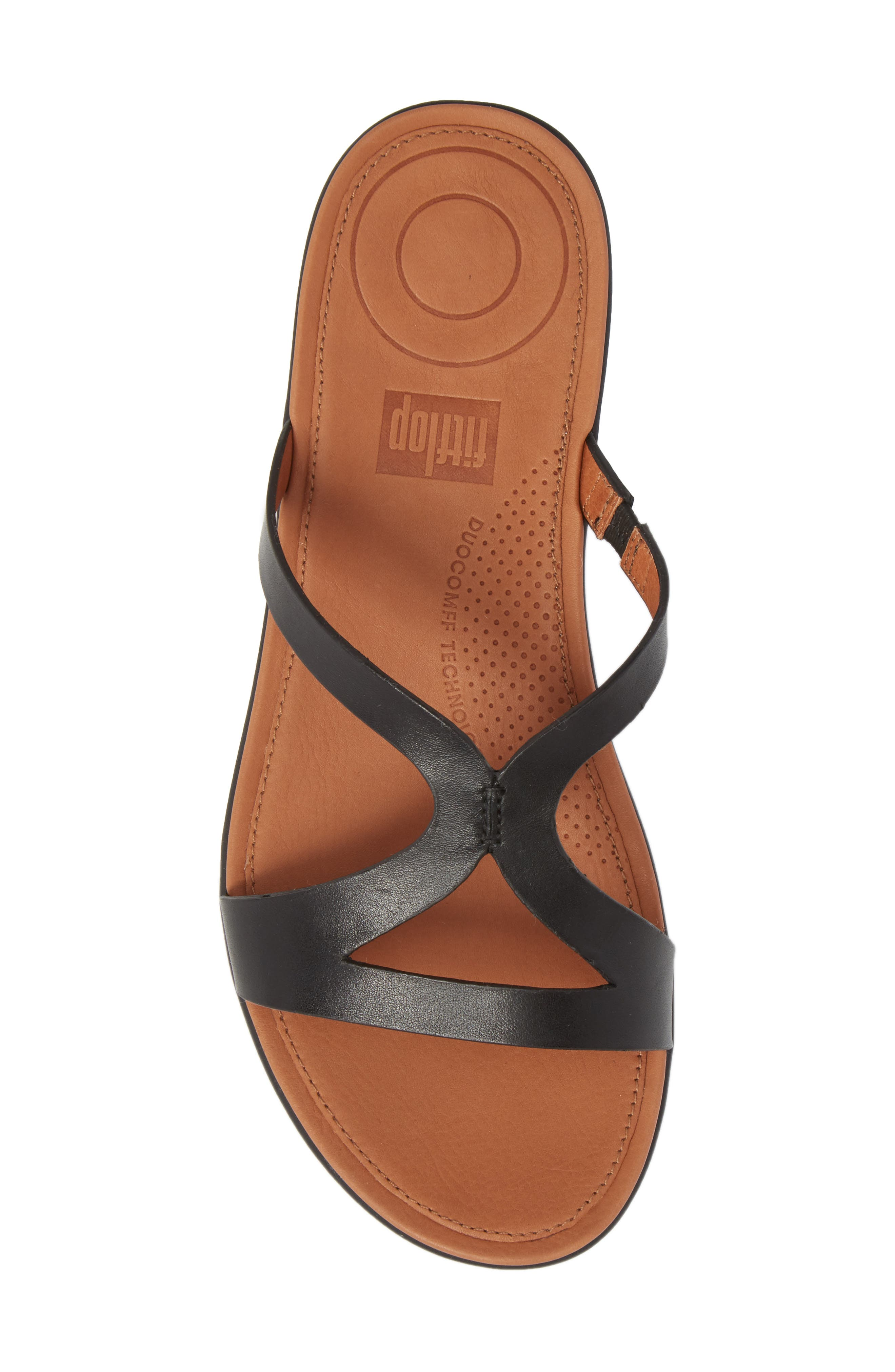 FITFLOP,                             Strata Slide Sandals,                             Alternate thumbnail 5, color,                             001